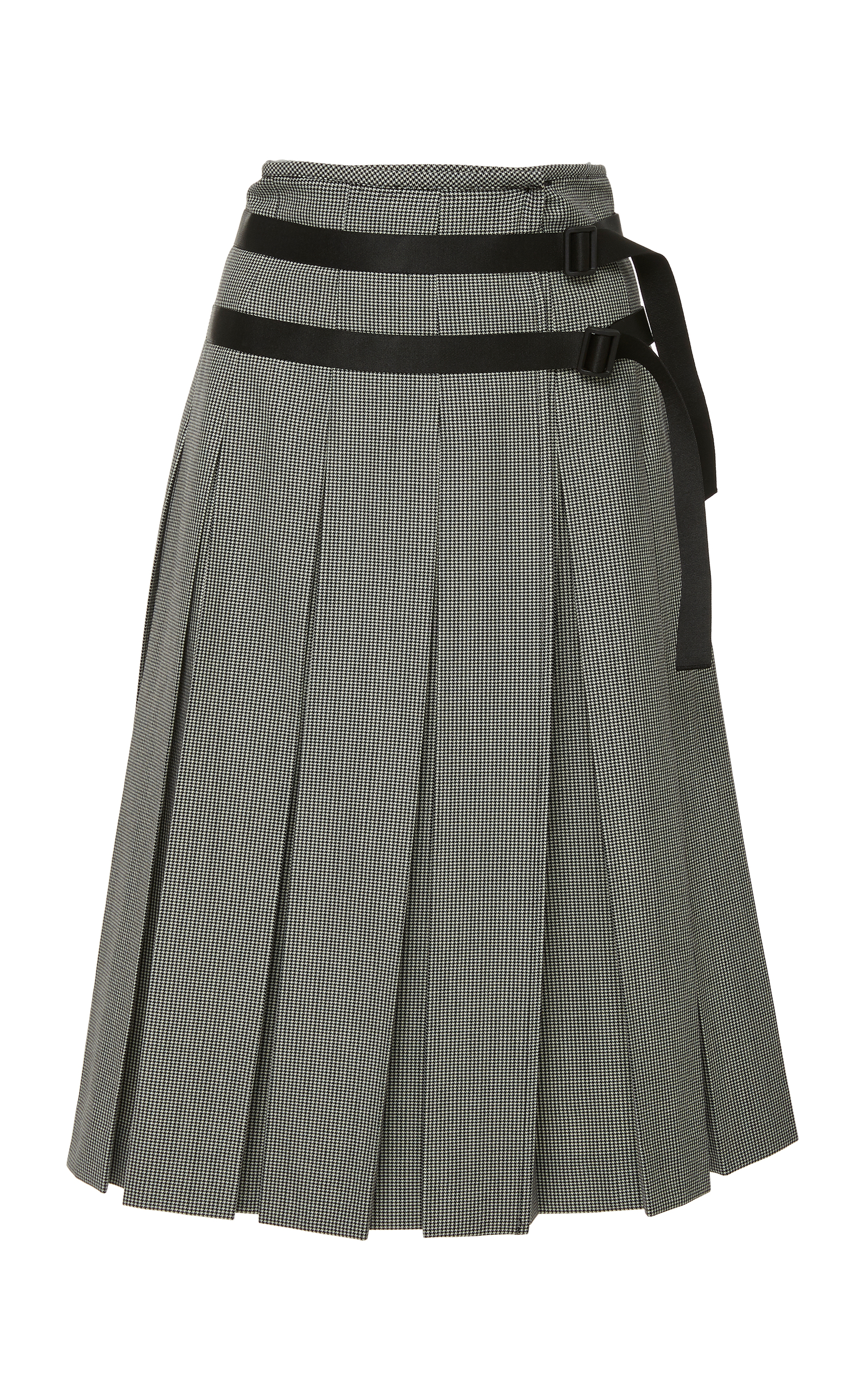 93fba741c957c5 Pepita Wool Pleated Skirt by Tomas Maier   Moda Operandi