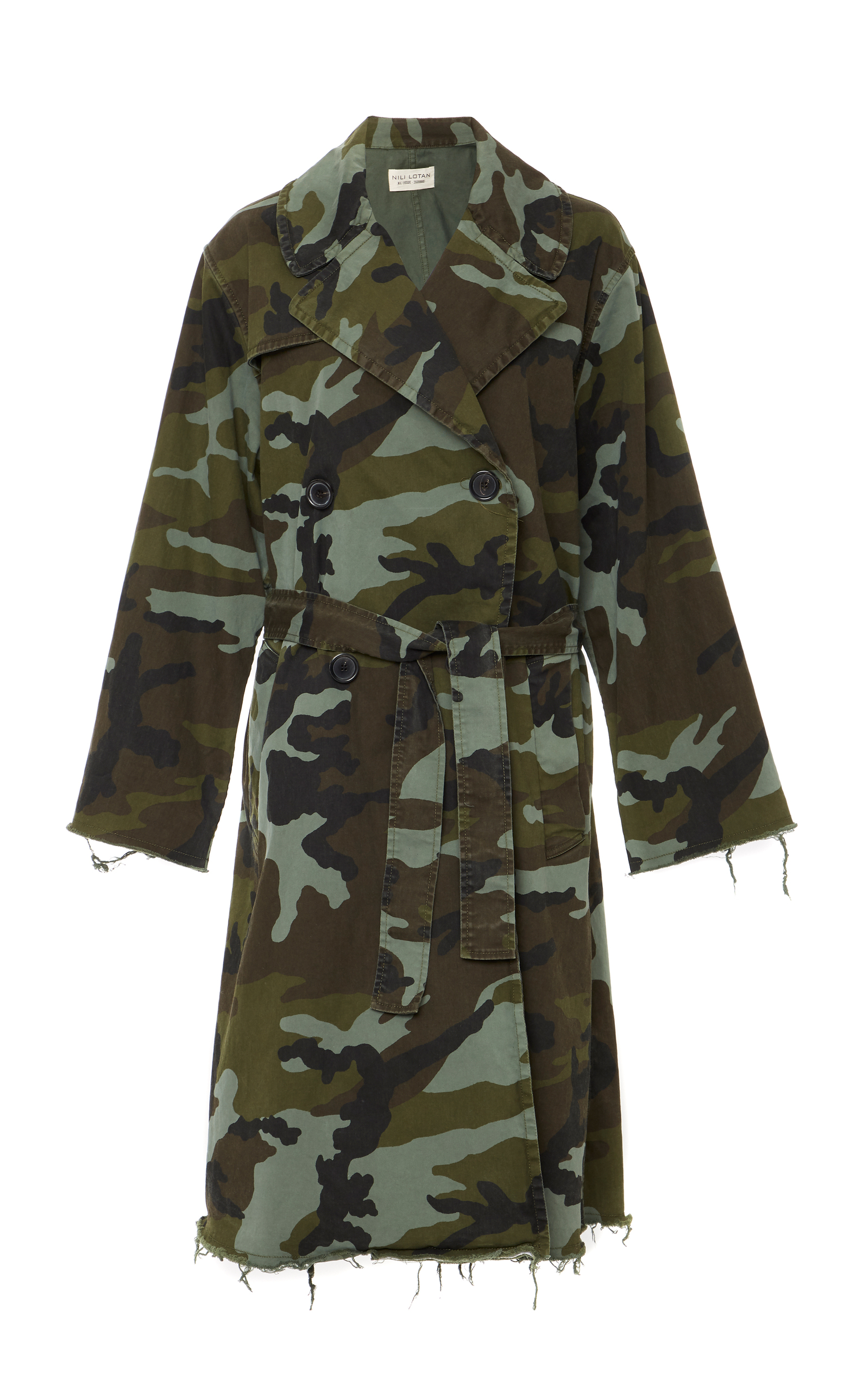 Farrow Camouflage-Print Cotton-Blend Trench Coat, Multi