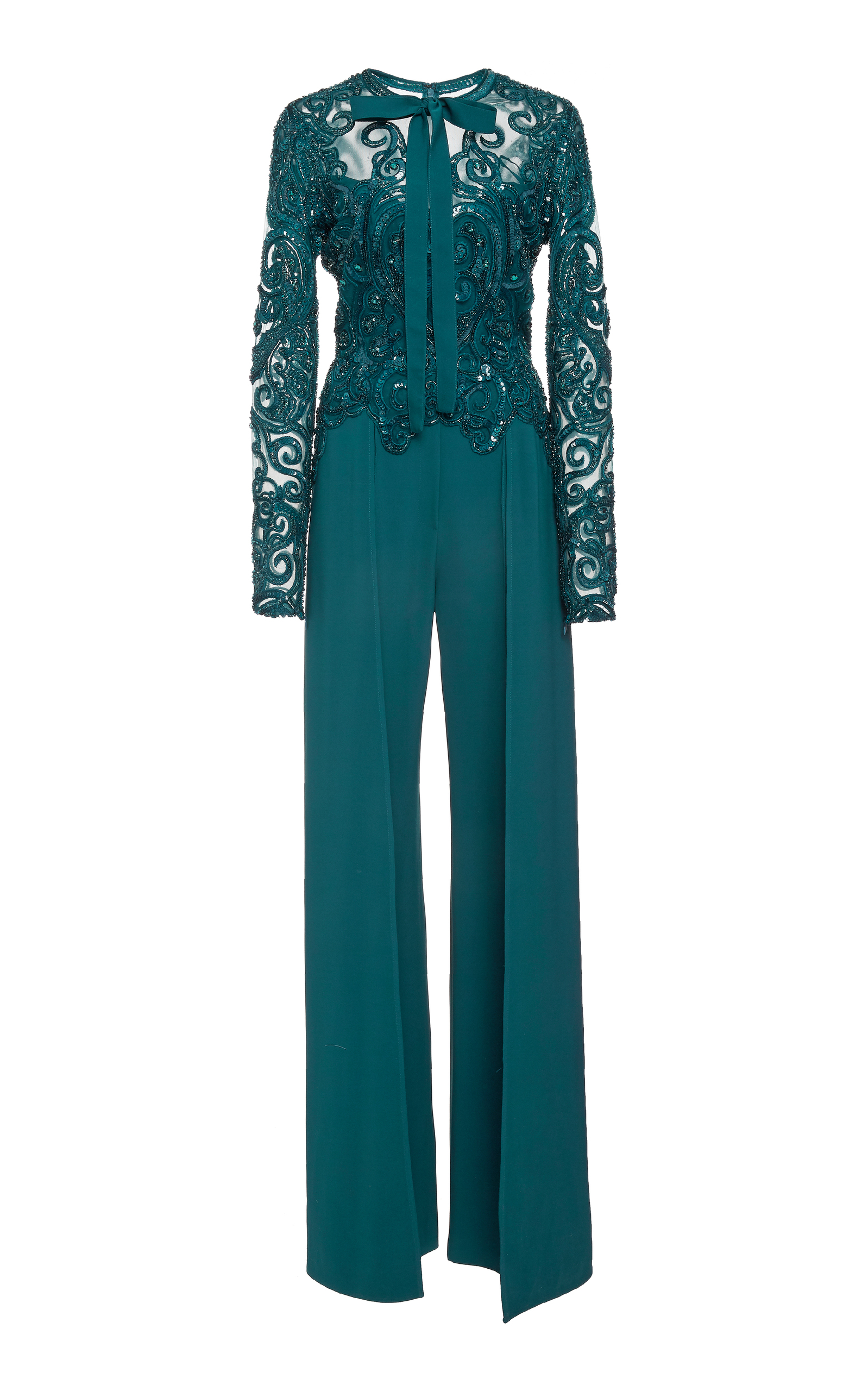 Embroidered Long Sleeve Shirt Elie Saab In China gzG46t8C