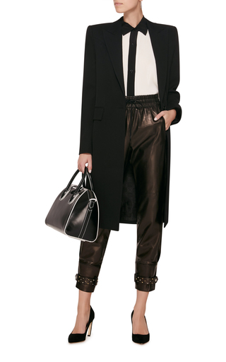 Pearl-Embellished Leather Tapered Pants Givenchy bKFjc8RpoU