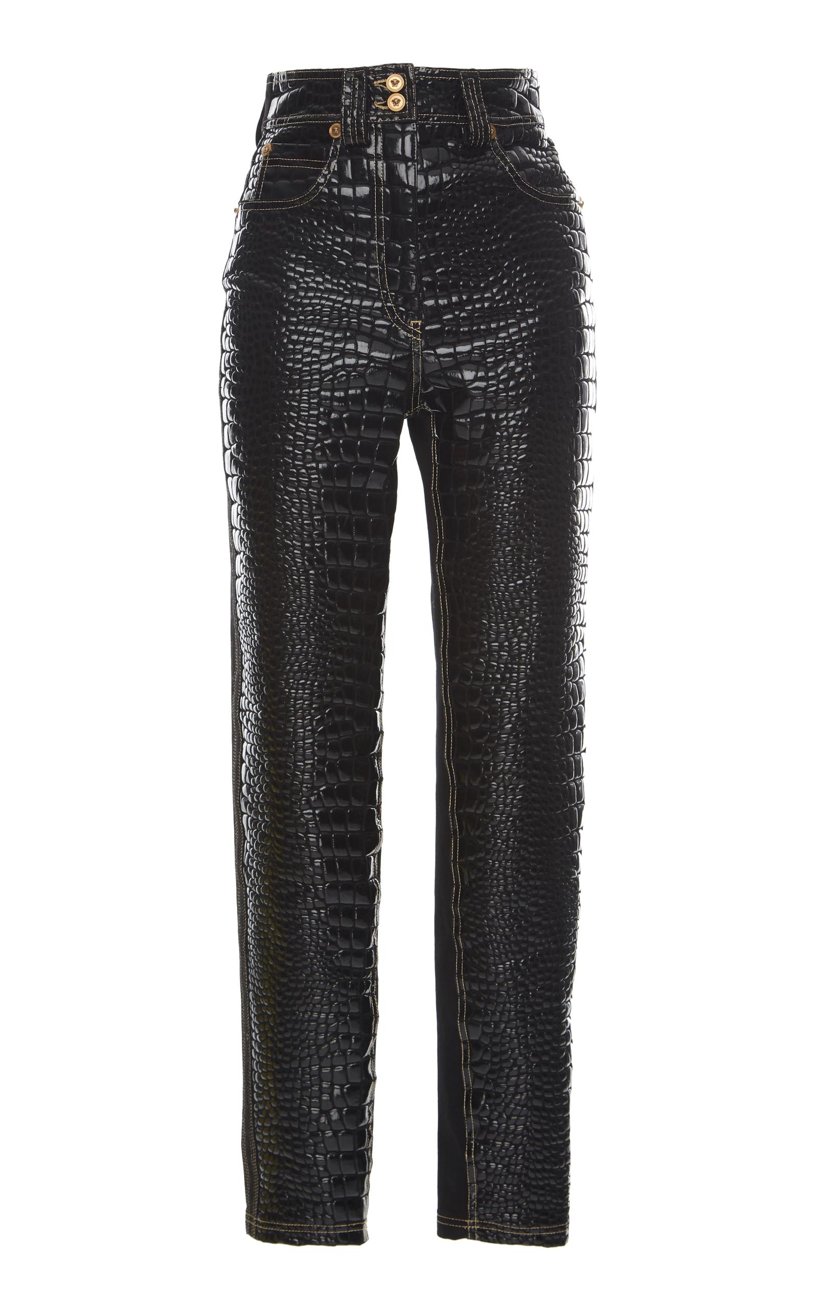 Versace EMBOSSED STRAIGHT LEG JEAN