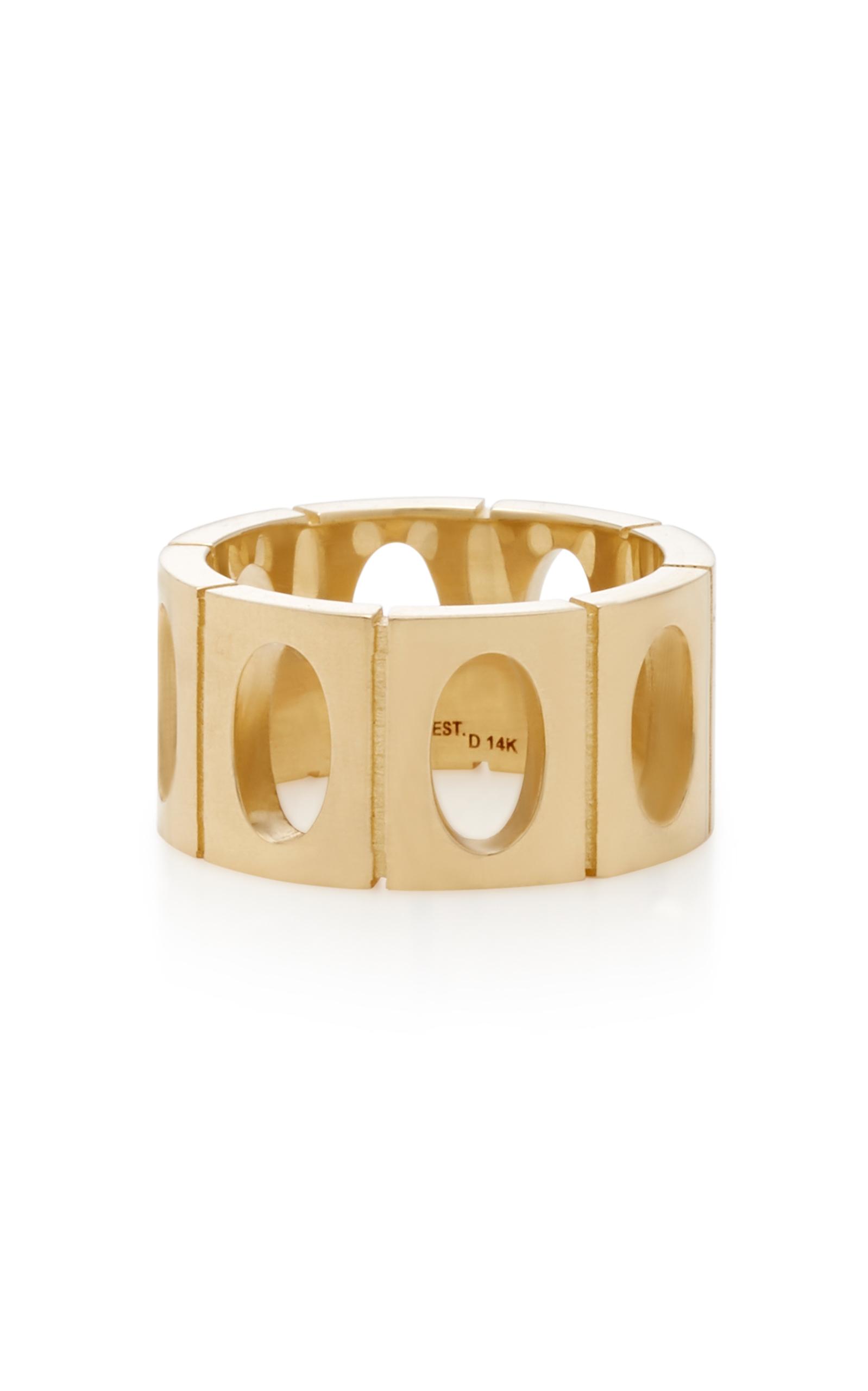 18K Gold Oval Link Ring Established 1xuFrB5AiG