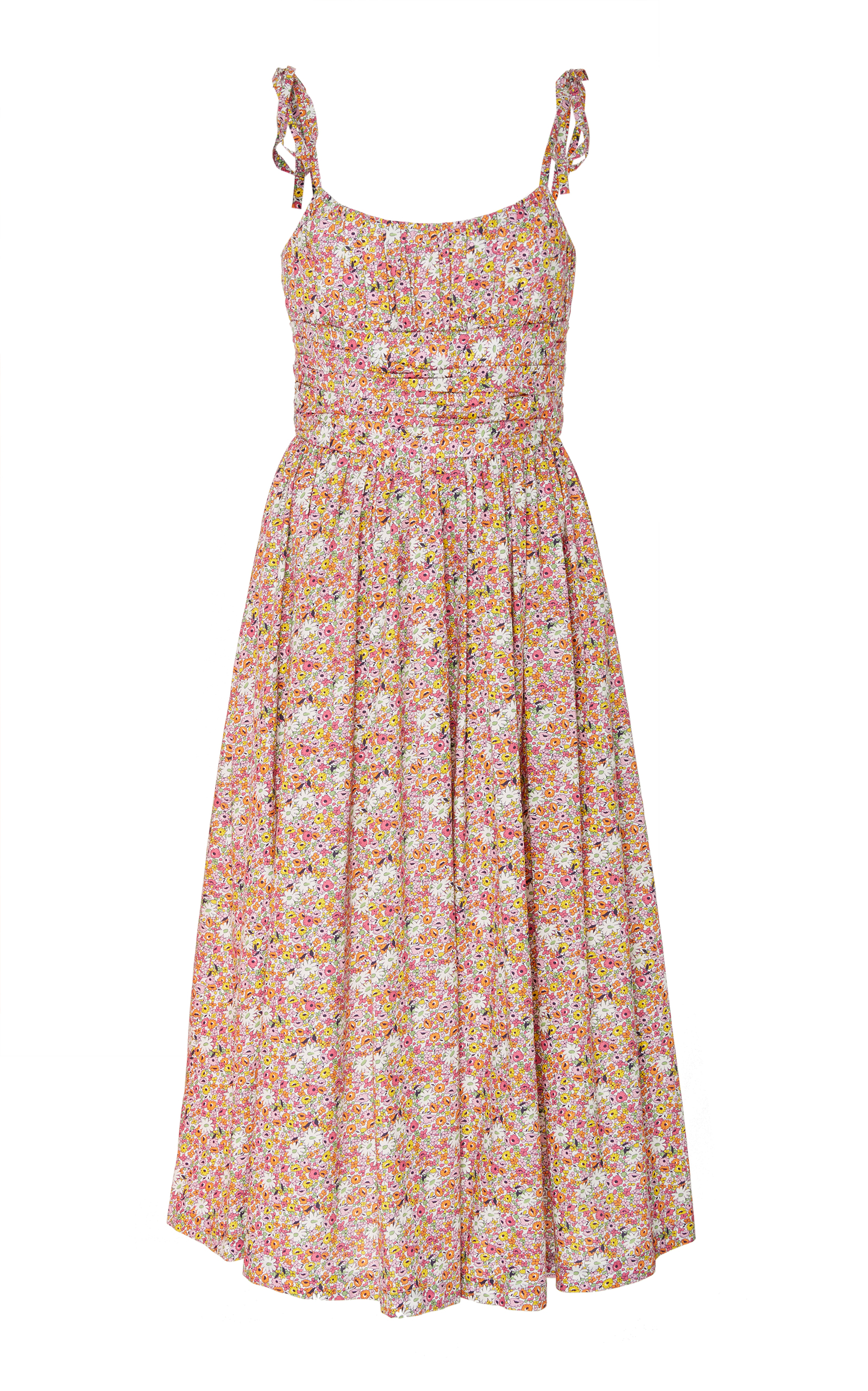 Cami Dress With Shearing in Floral