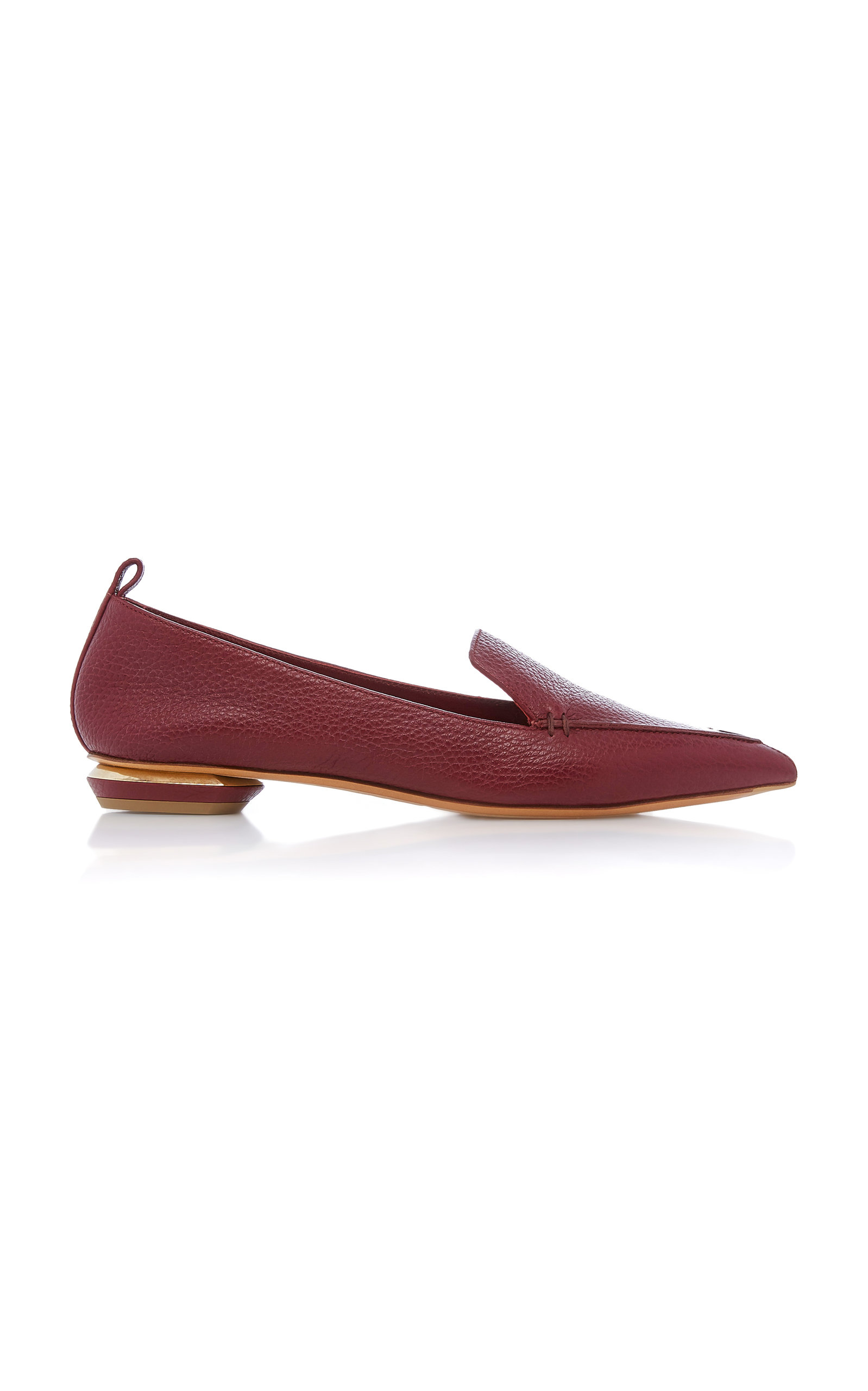 Beya Leather Loafers - Burgundy Size 8.5 in Red