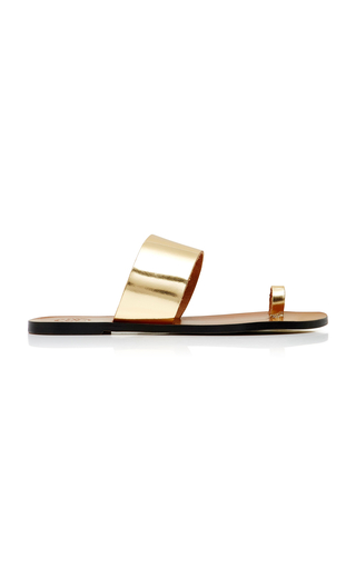 ATP Atelier Astrid Metallic Glossed-Leather Slides