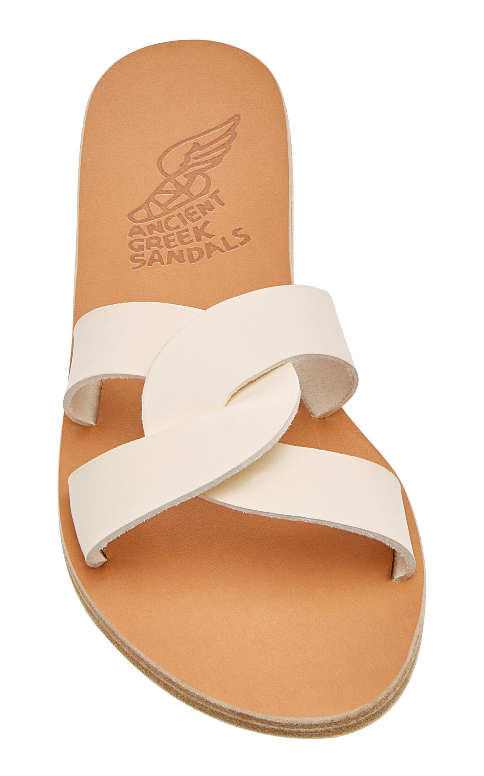 2ffb06ca20e Desmos Cutout Metallic Leather Slides