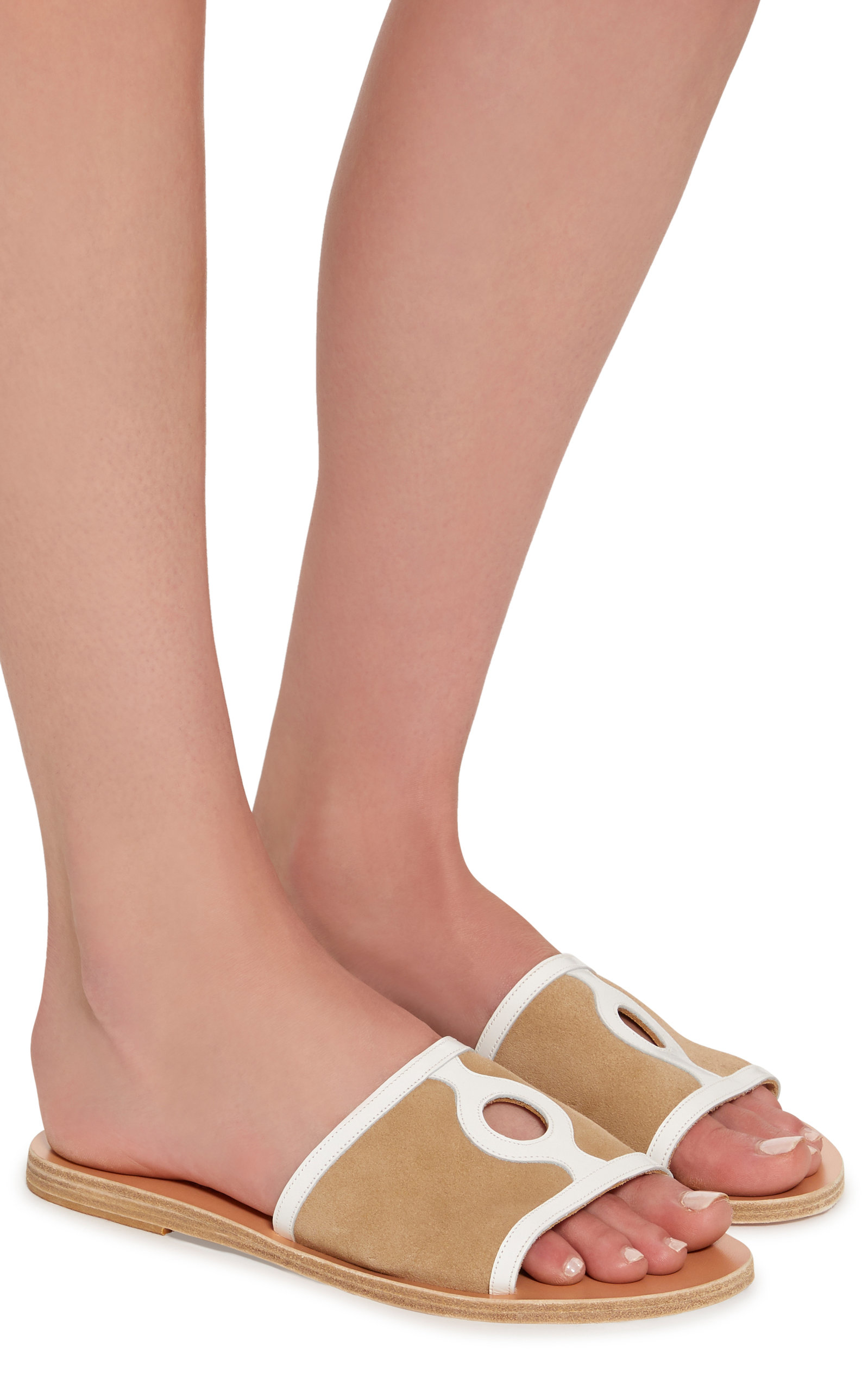 1754bb40acf Illia Cutout Patent-Leather And Suede Slides