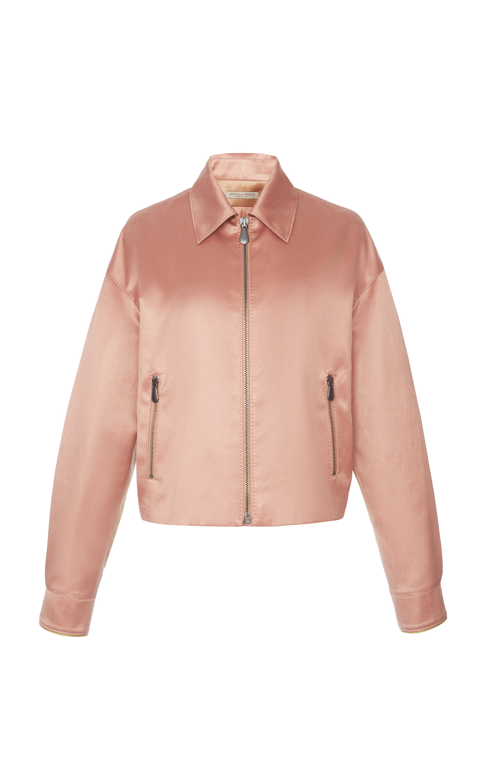 COTTON AND SILK-BLEND BOMBER JACKET