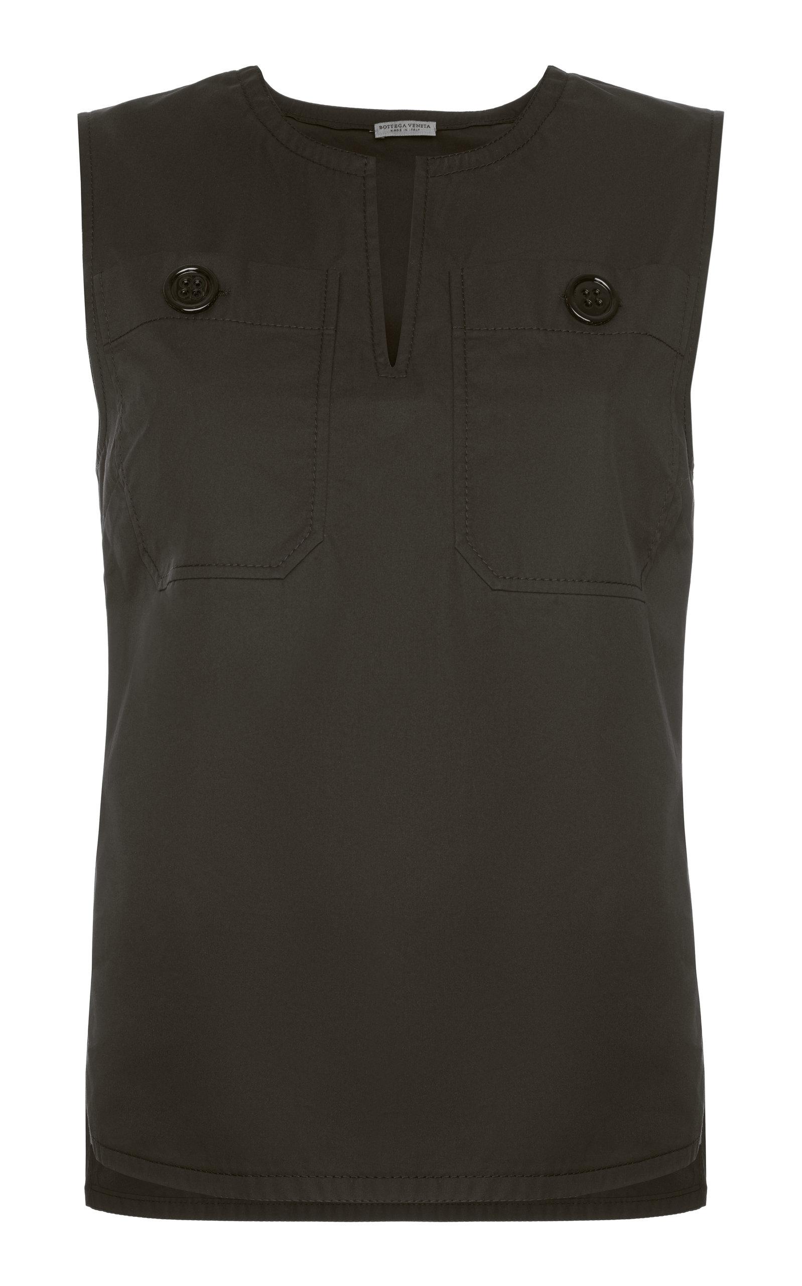 New Arrival Cheap Online Sale Big Discount tie front sleeveless blouse - Black Bottega Veneta Affordable SldGdHn