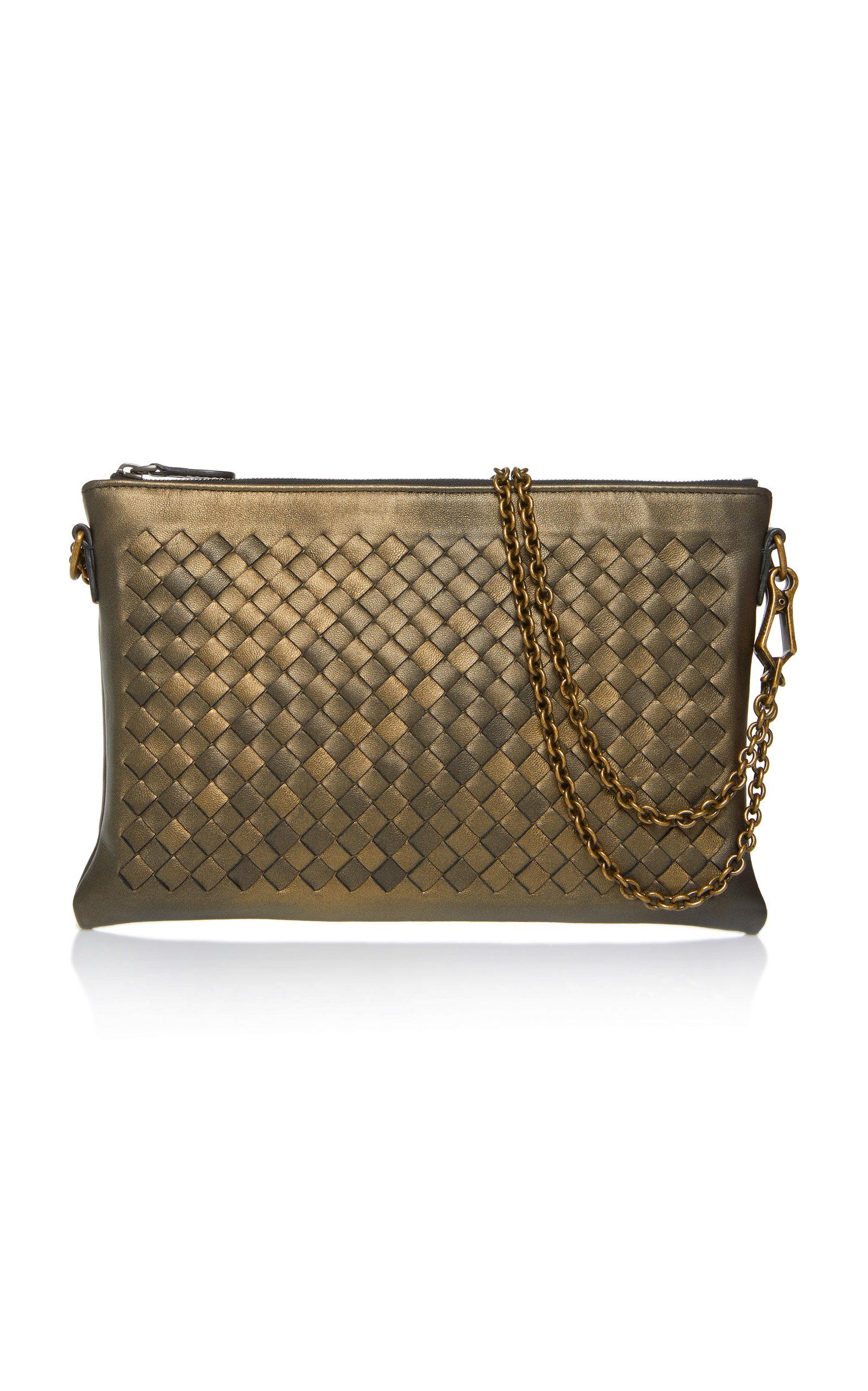87138e7fac Bottega VenetaChain Strap Leather Wallet Bag. CLOSE. Loading