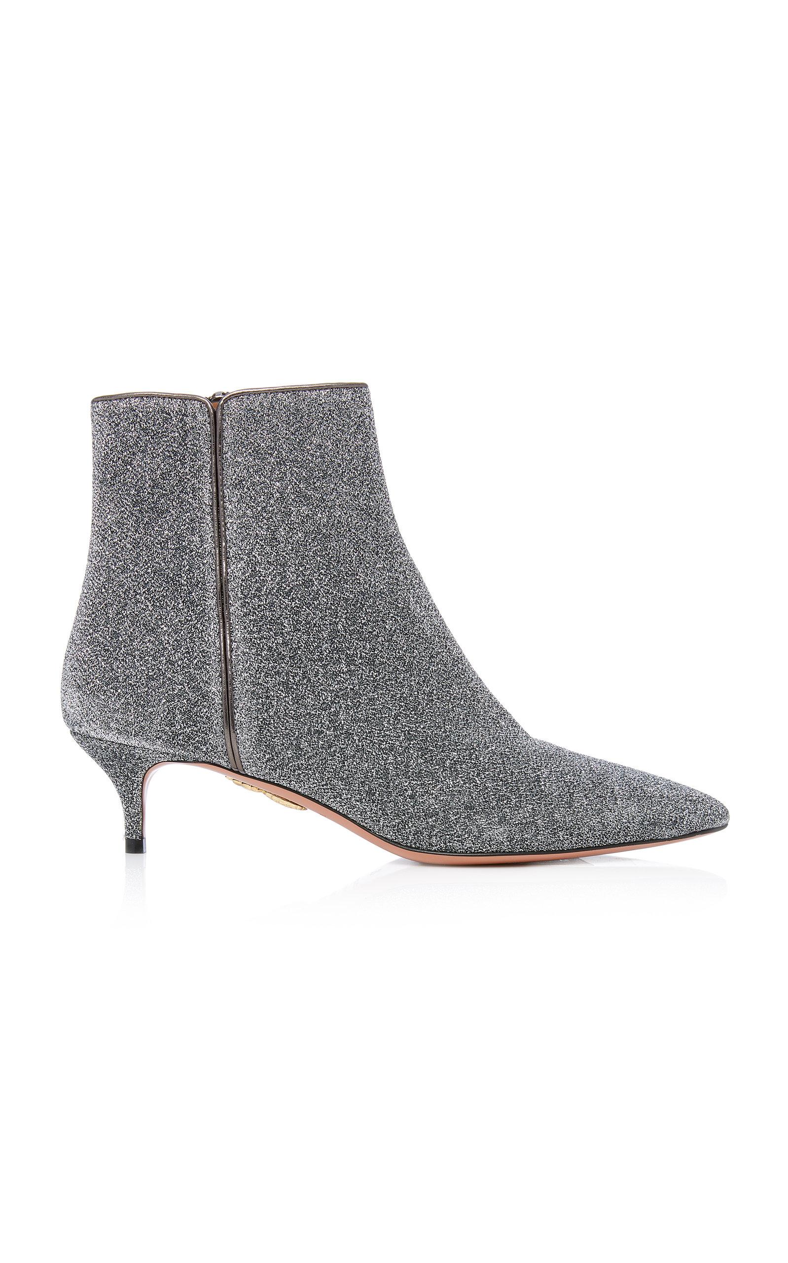 Quant Metallic Stretch-Knit Ankle BootsAquazzura mpd3y