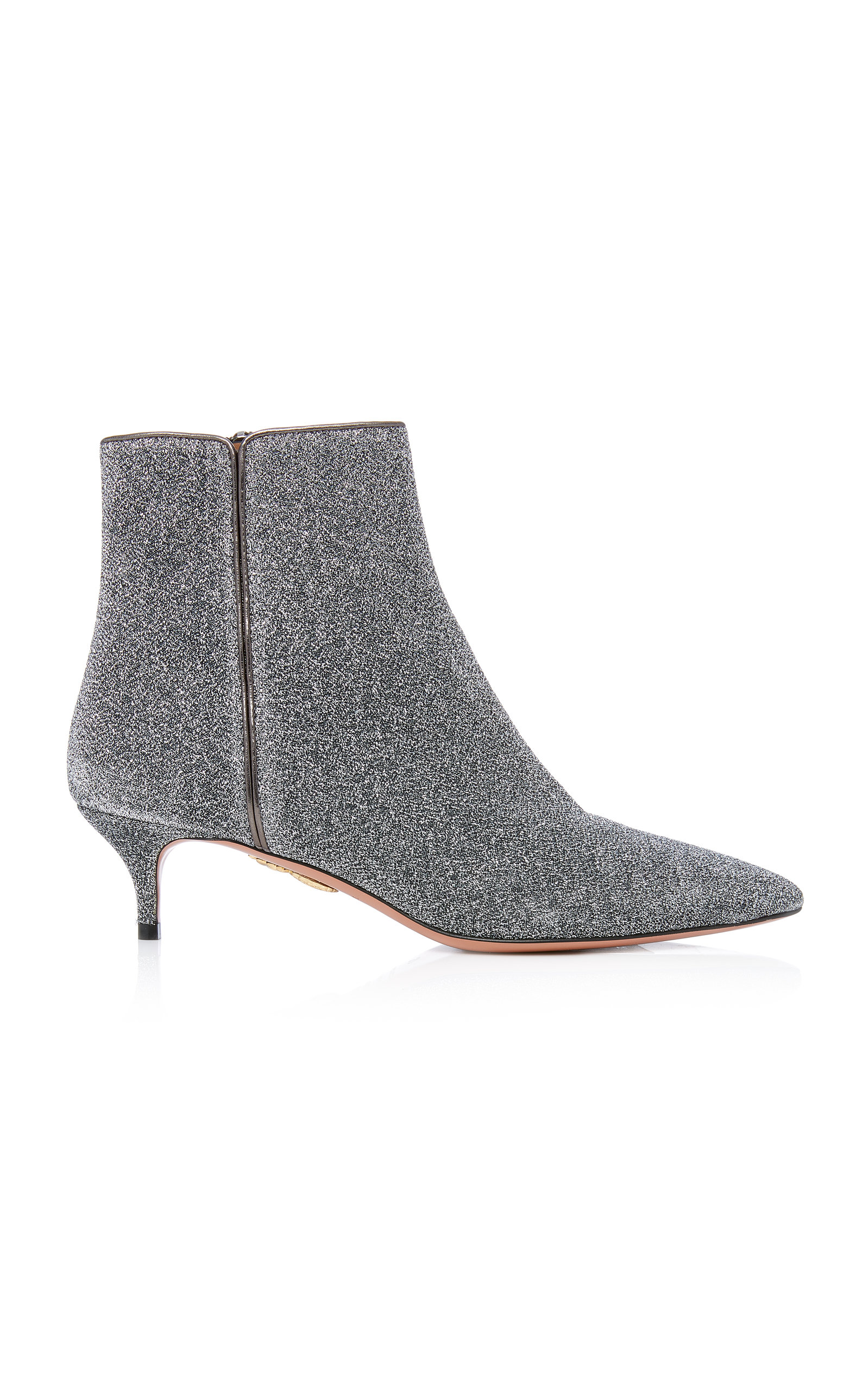 Quant Metallic Stretch-Knit Ankle Boots, Silver