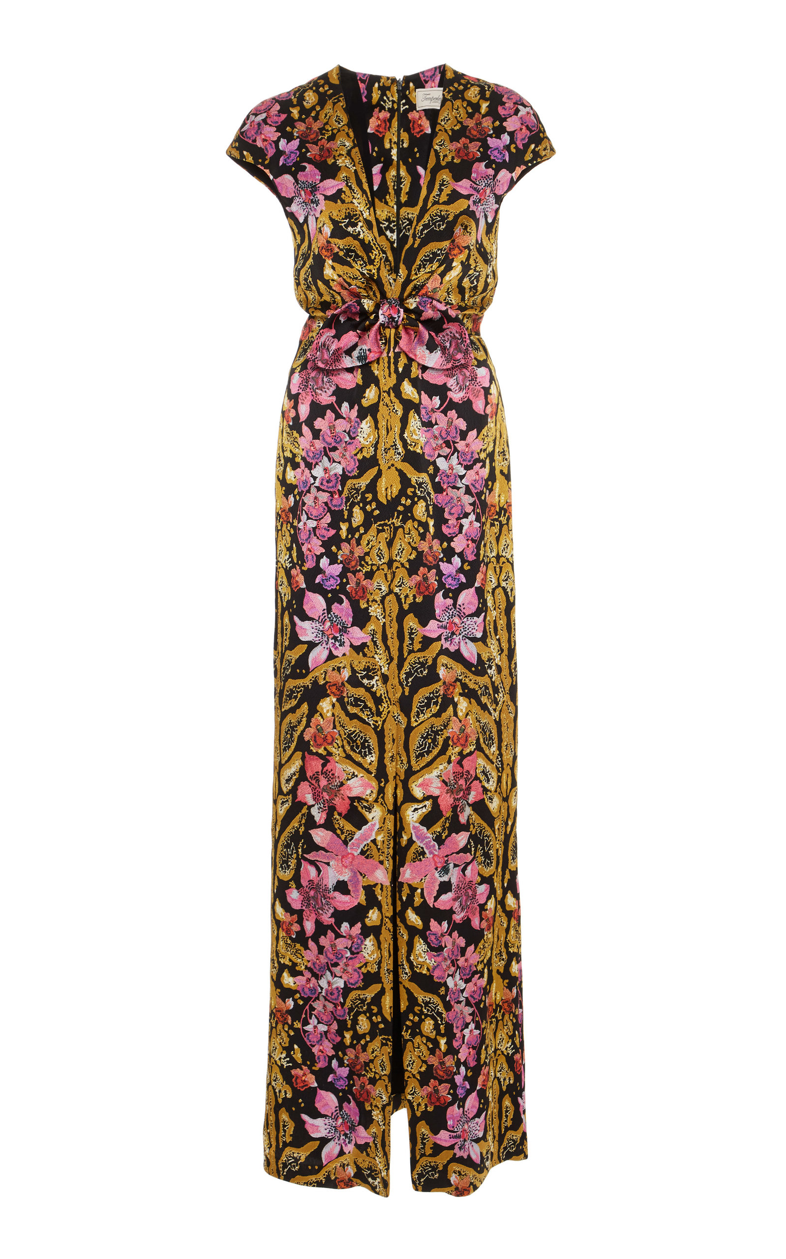 floral printed knotted dress