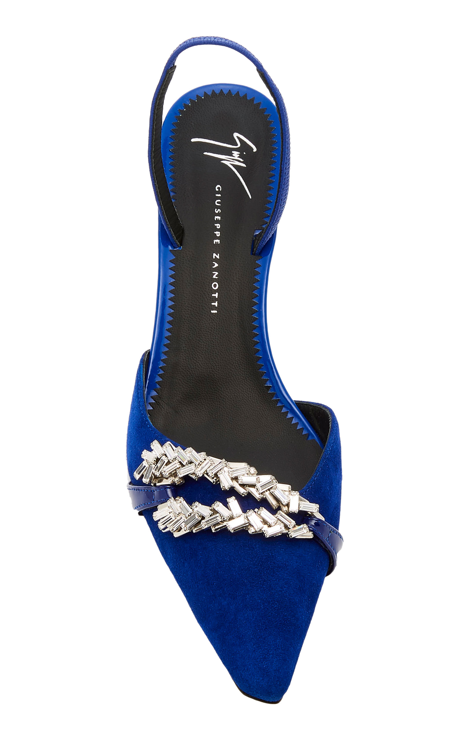 b6c1ffb15714a Notte Crystal-Embellished Suede Slingback Pumps by Giuseppe Zanotti ...