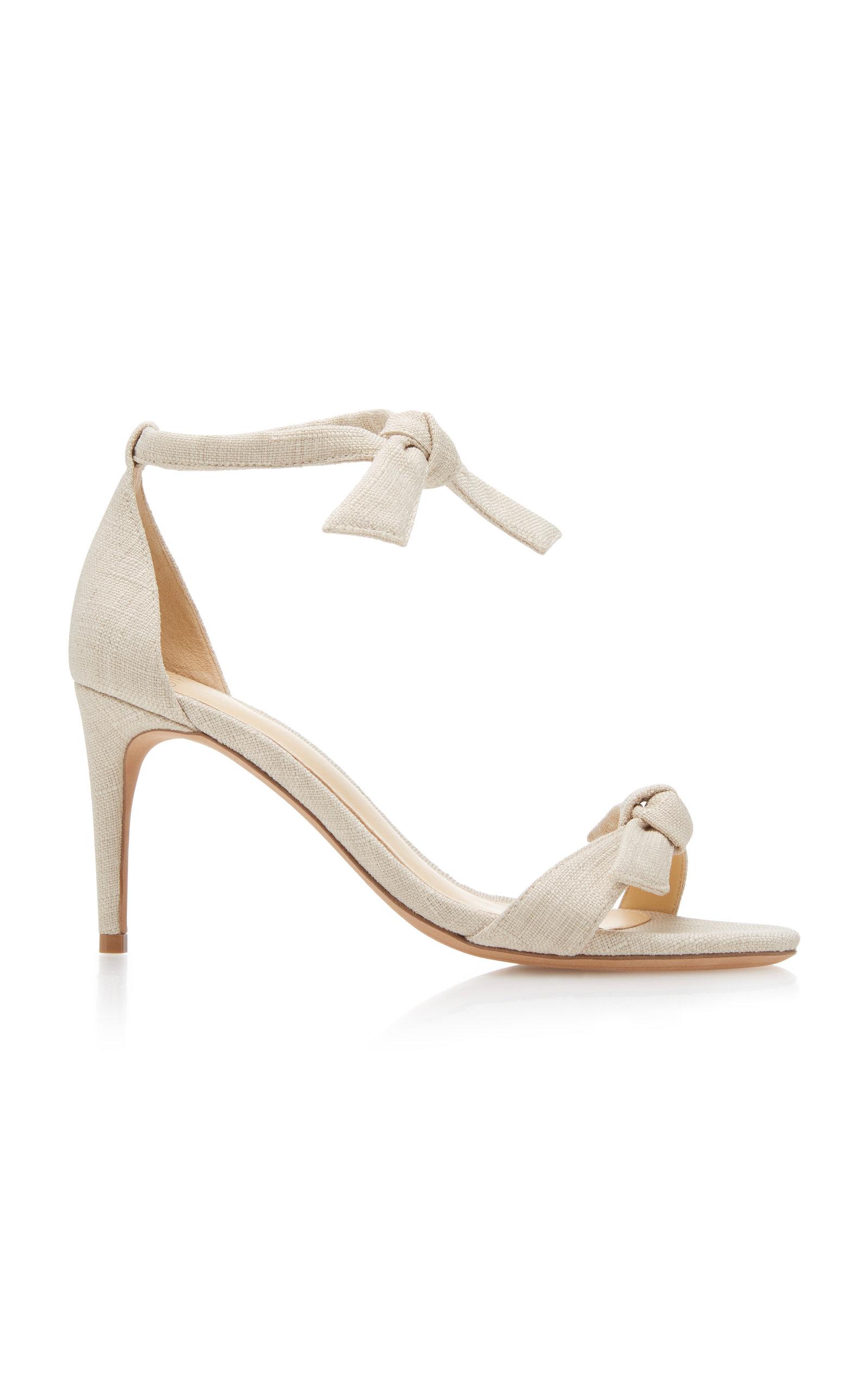 ALEXANDRE BIRMAN Clarita Linen Sandal 0Q68Ni