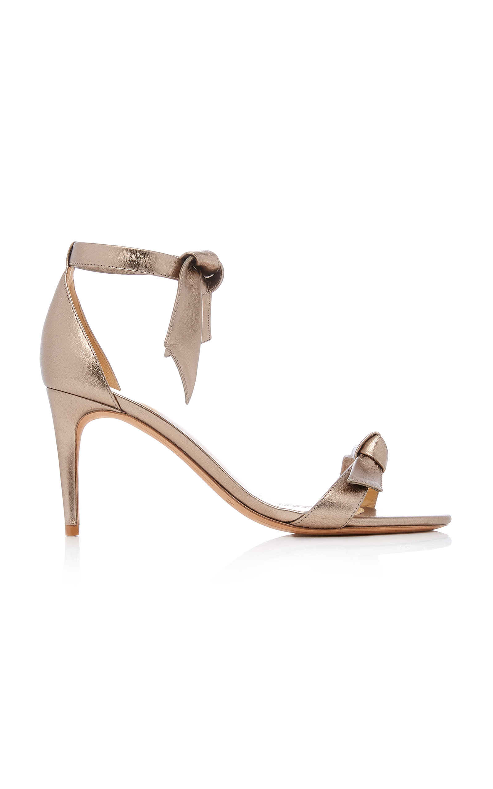 2a86a3eb376 Alexandre Birman Clarita Metallic Leather Ankle-Tie Sandal In Gold ...