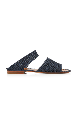 CARRIE FORBES | Carrie Forbes Ahmed Raffia Slides | Goxip