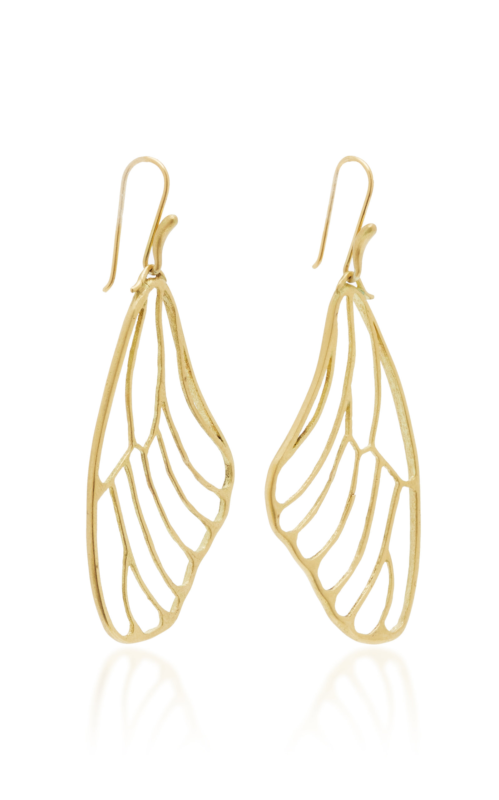 18k Gold Erfly Wing Earrings Close Loading