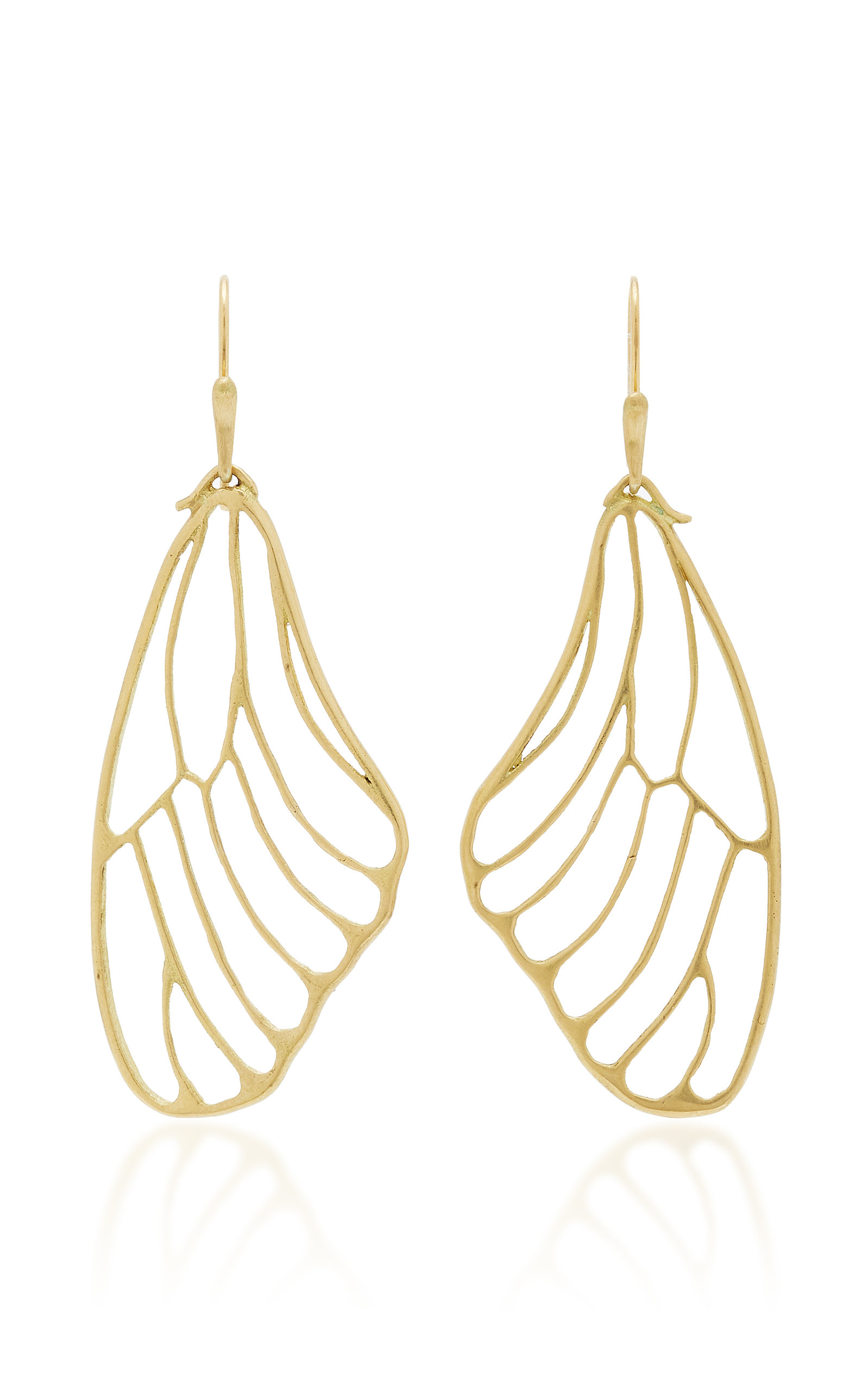 Annette Ferdinandsen 18k Gold Erfly Wing Earrings
