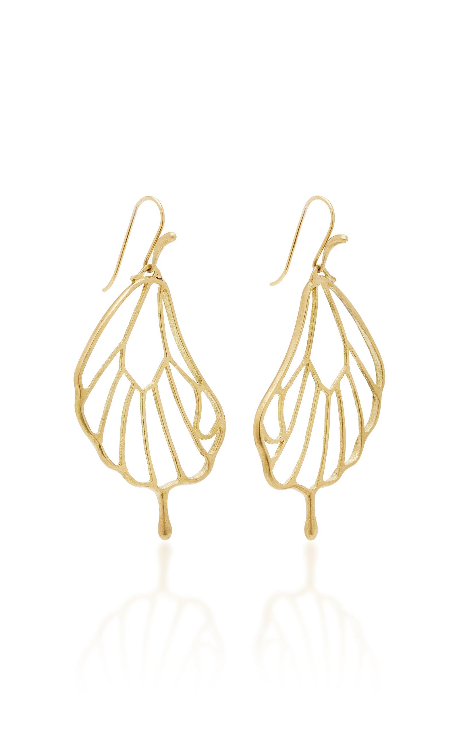 18K Gold Pampion Wing Earrings Annette Ferdinandsen 5RBuydVND