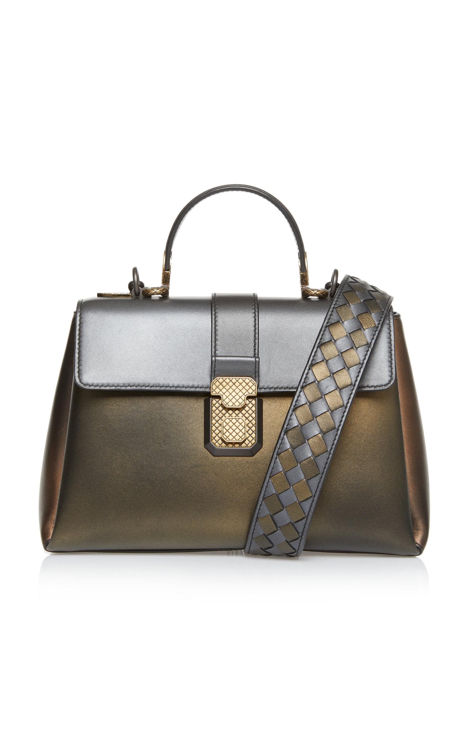 ac64901d18 Antique Piazza Leather Top Handle Bag by Bottega Veneta