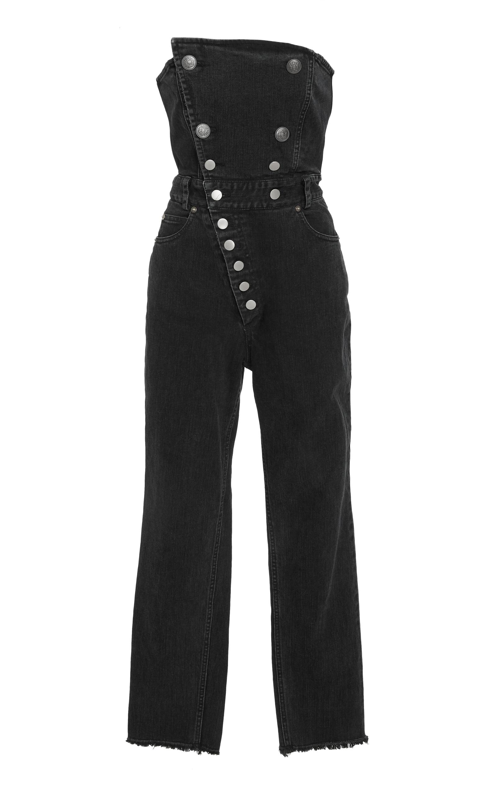 41f0f08ff16 Marissa WebbMyles Strapless Denim Jumpsuit. CLOSE. Loading