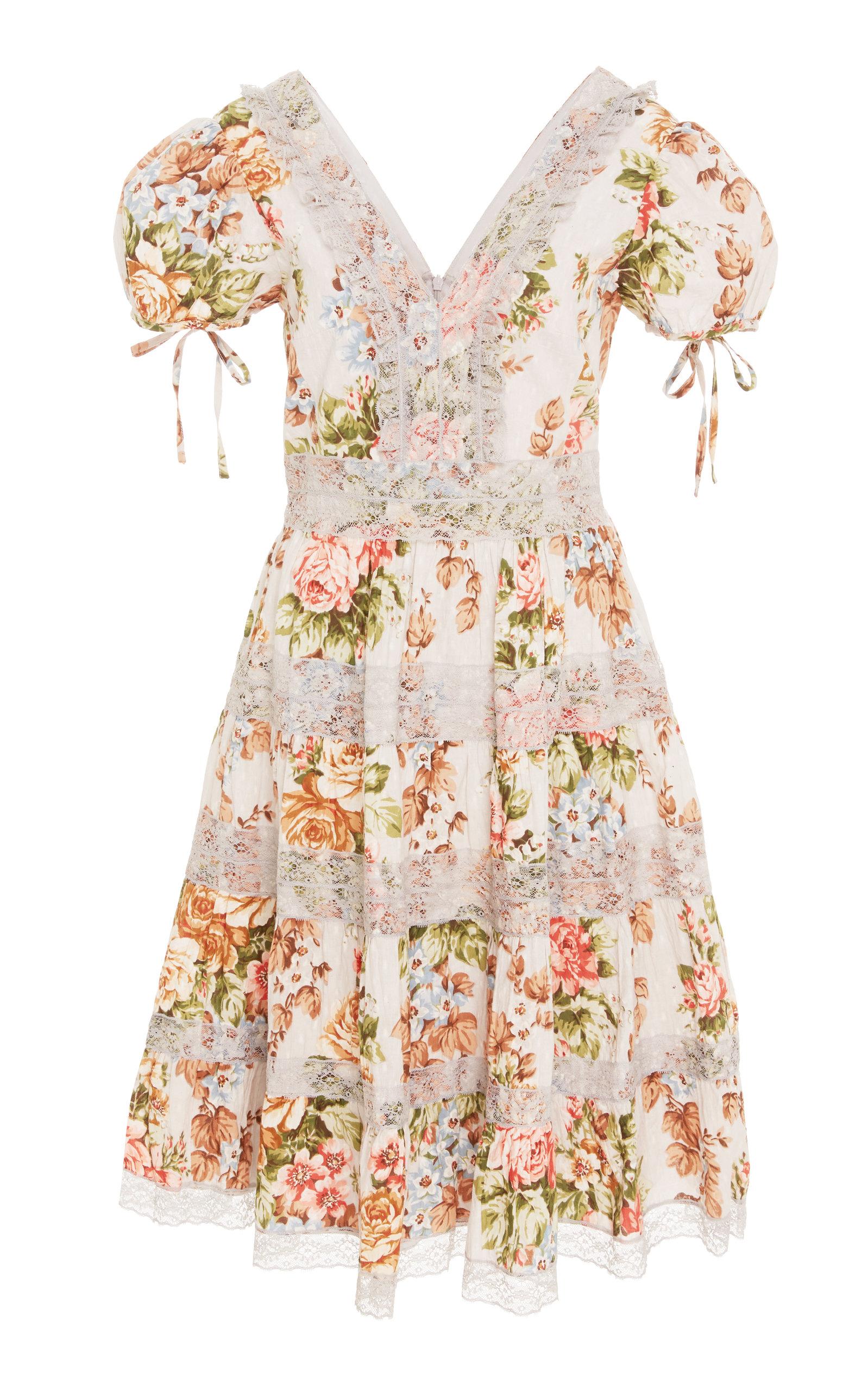 Paradise Rose Cotton and Lace Dress Needle & Thread xXhHQEj