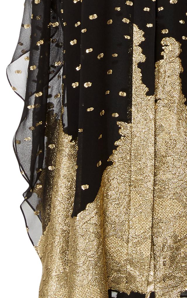 MO Exclusive Gold Dot Silk Caftan Sandra Mansour Z28mPsp71U