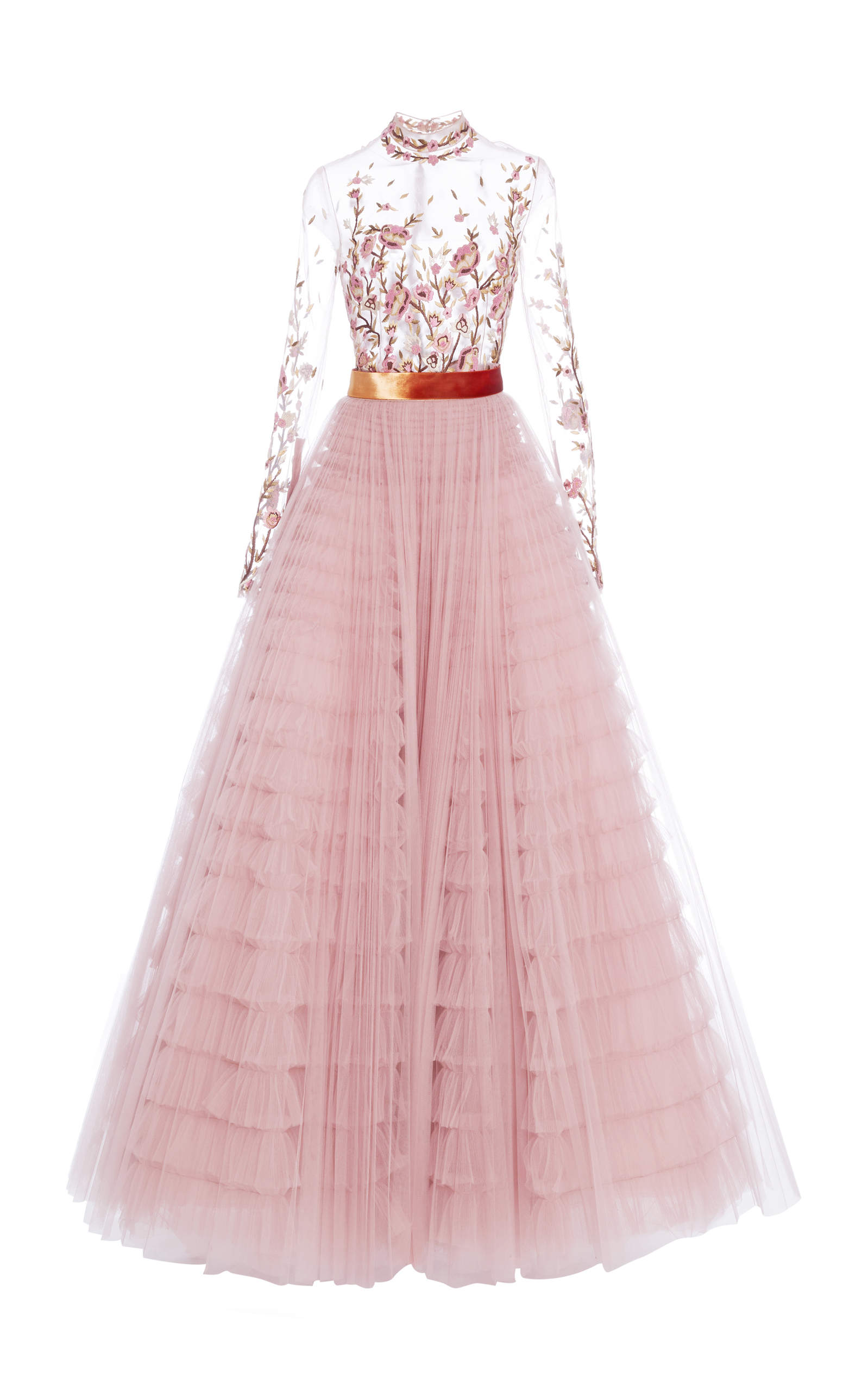 08d0fcf7d7 Floral Embroidered Tulle Gown by J. Mendel