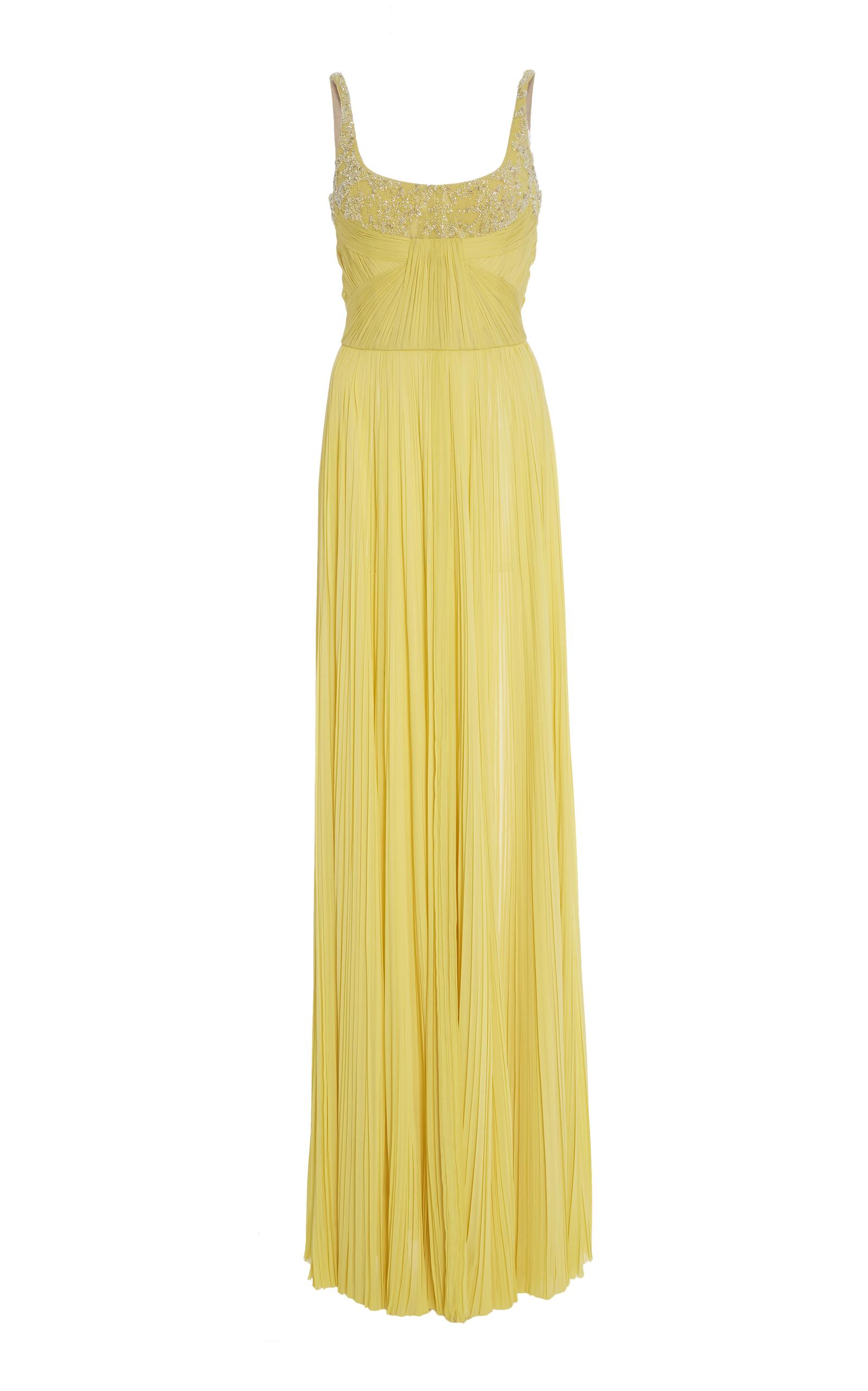 Strapless Pleated Embellished Gown by J. Mendel   Moda Operandi