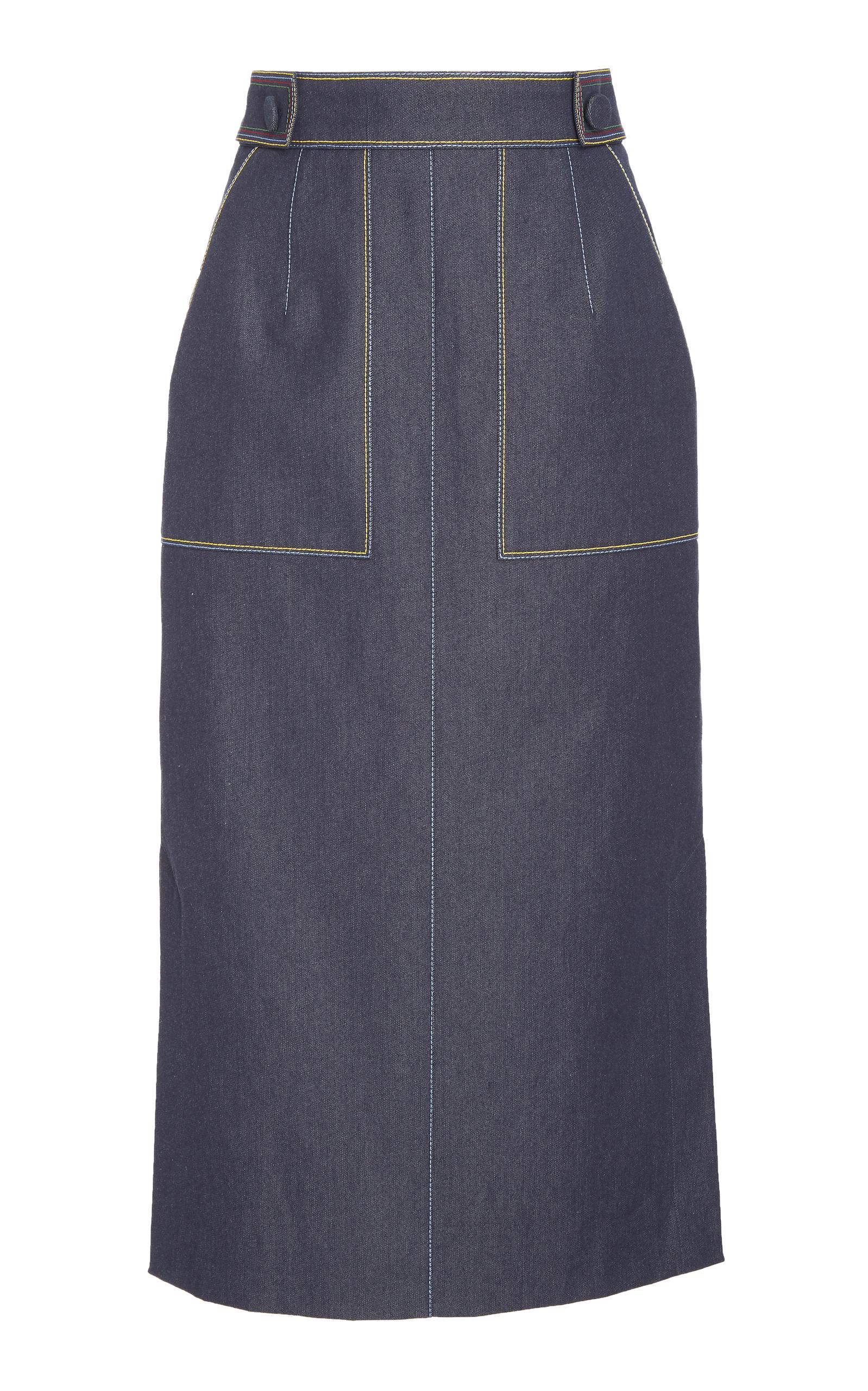4c209000bc Pencil Skirt With Pockets by Carolina Herrera | Moda Operandi
