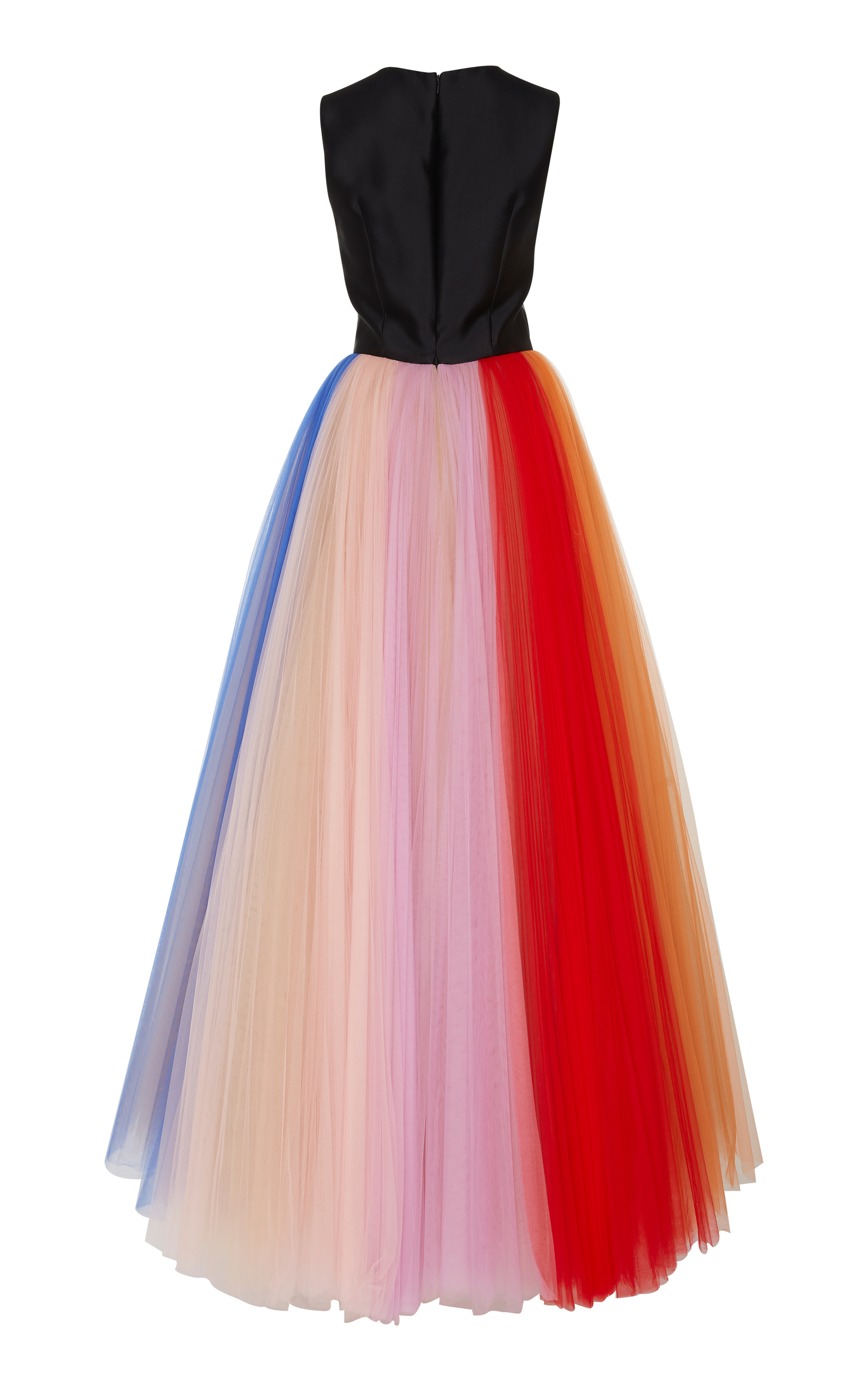 b2f375d0ab8 Carolina HerreraSleeveless Gown With Pleated Tulle Skirt. CLOSE. Loading.  Loading