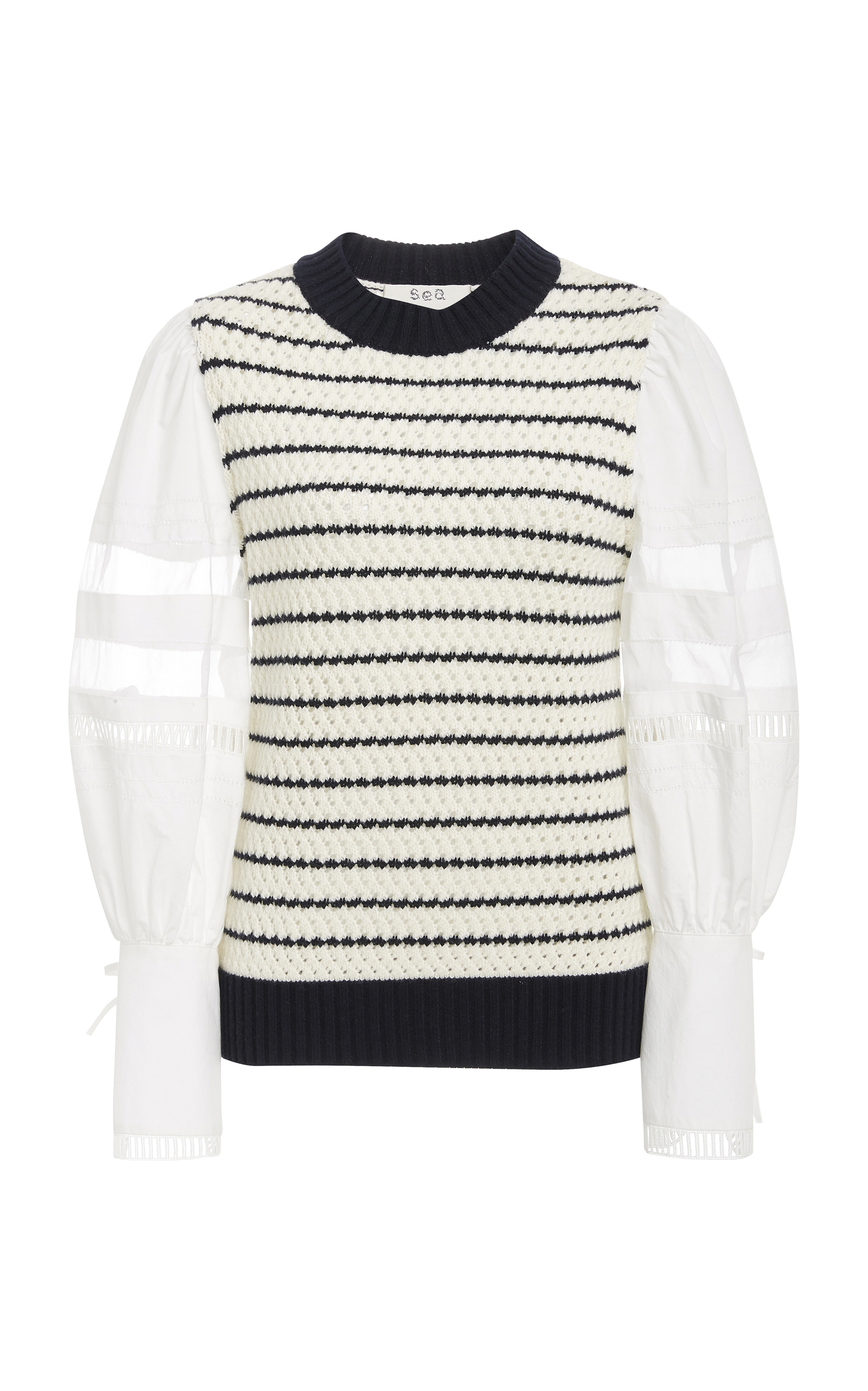 Coco Crewneck Long-Sleeve Combo Striped Sweater