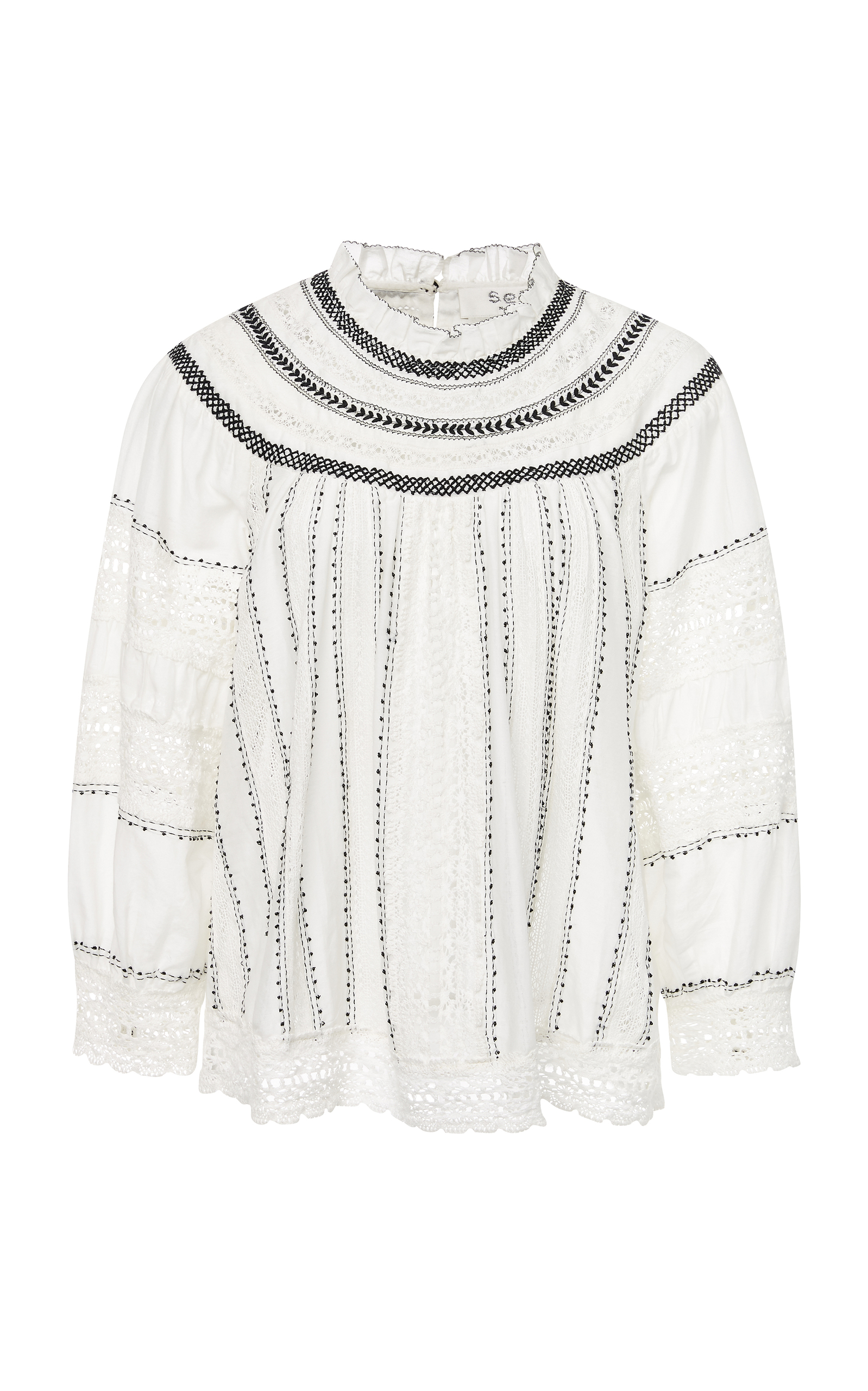 9632597ddd9735 Louisa Embroidery Long-Sleeved Peasant Top by Sea | Moda Operandi