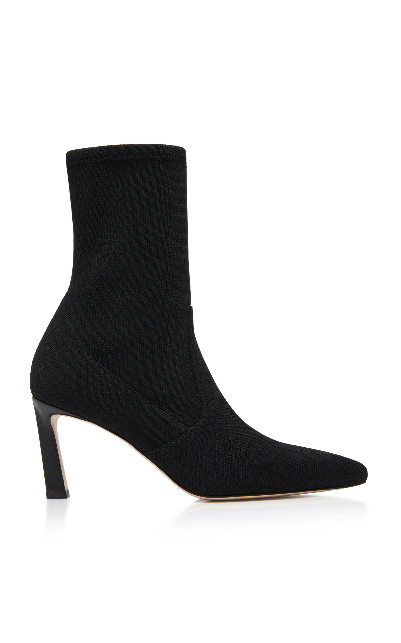 Rapture Stretch-Knit Ankle Boots in Black from STUART WEITZMAN