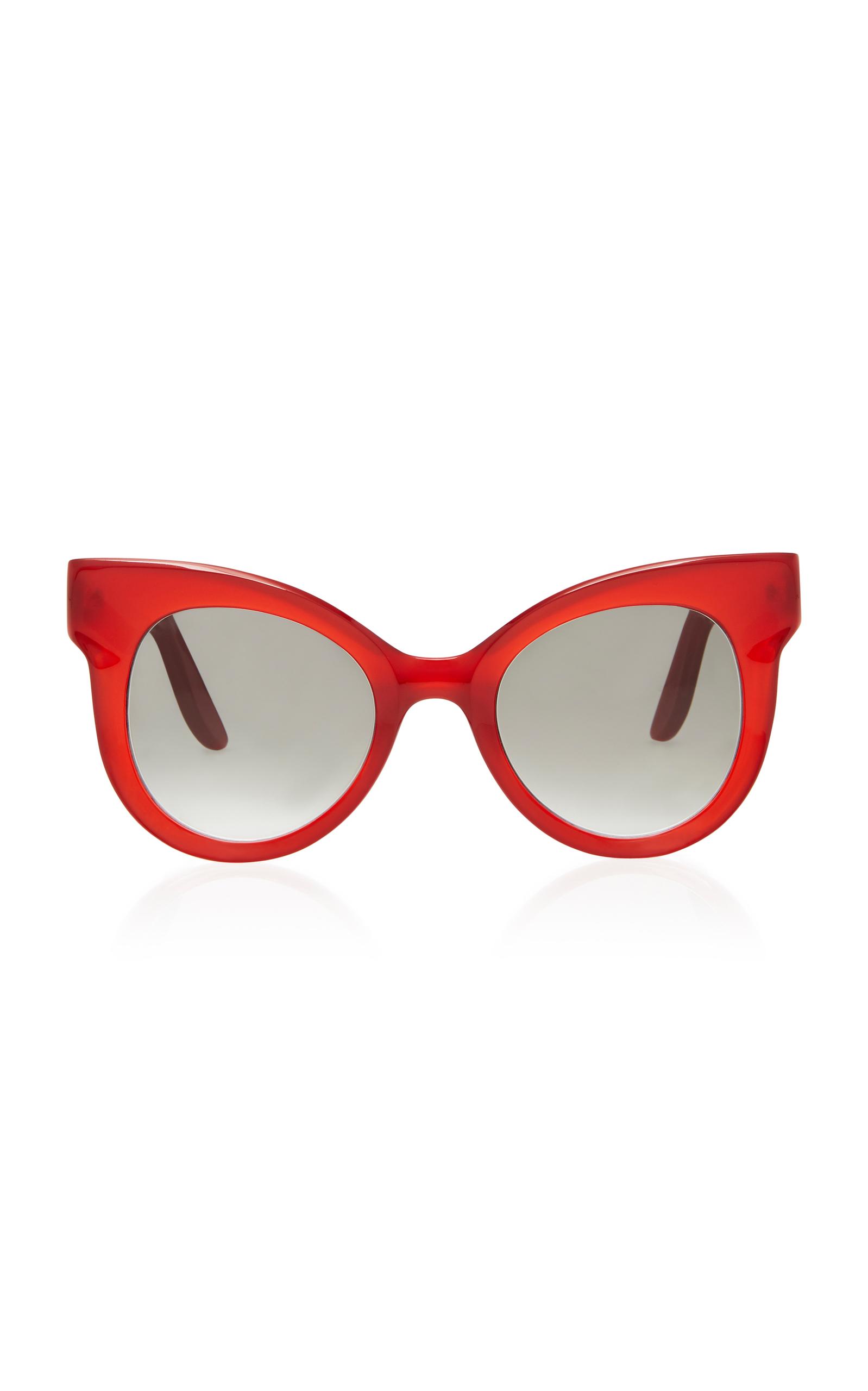 LAPIMA Ana Cat-Eye Acetate Sunglasses in Red