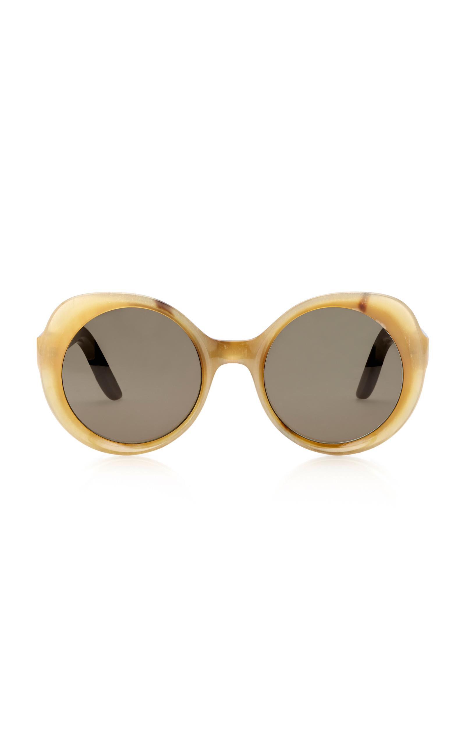 LAPIMA Carlota Oversized Round-Frame Sunglasses in Neutral
