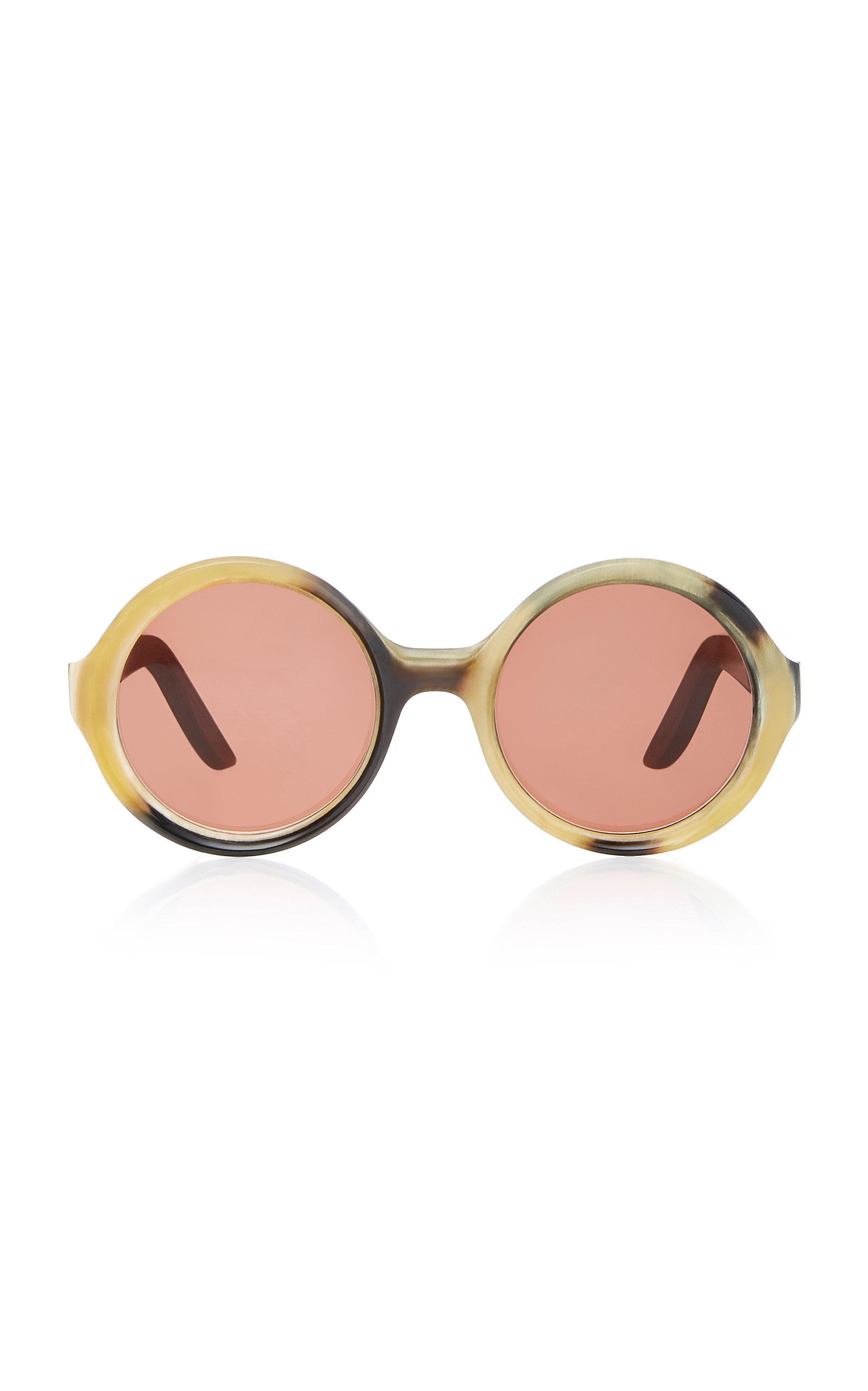LAPIMA CAROLINA ROUND-FRAME ACETATE SUNGLASSES