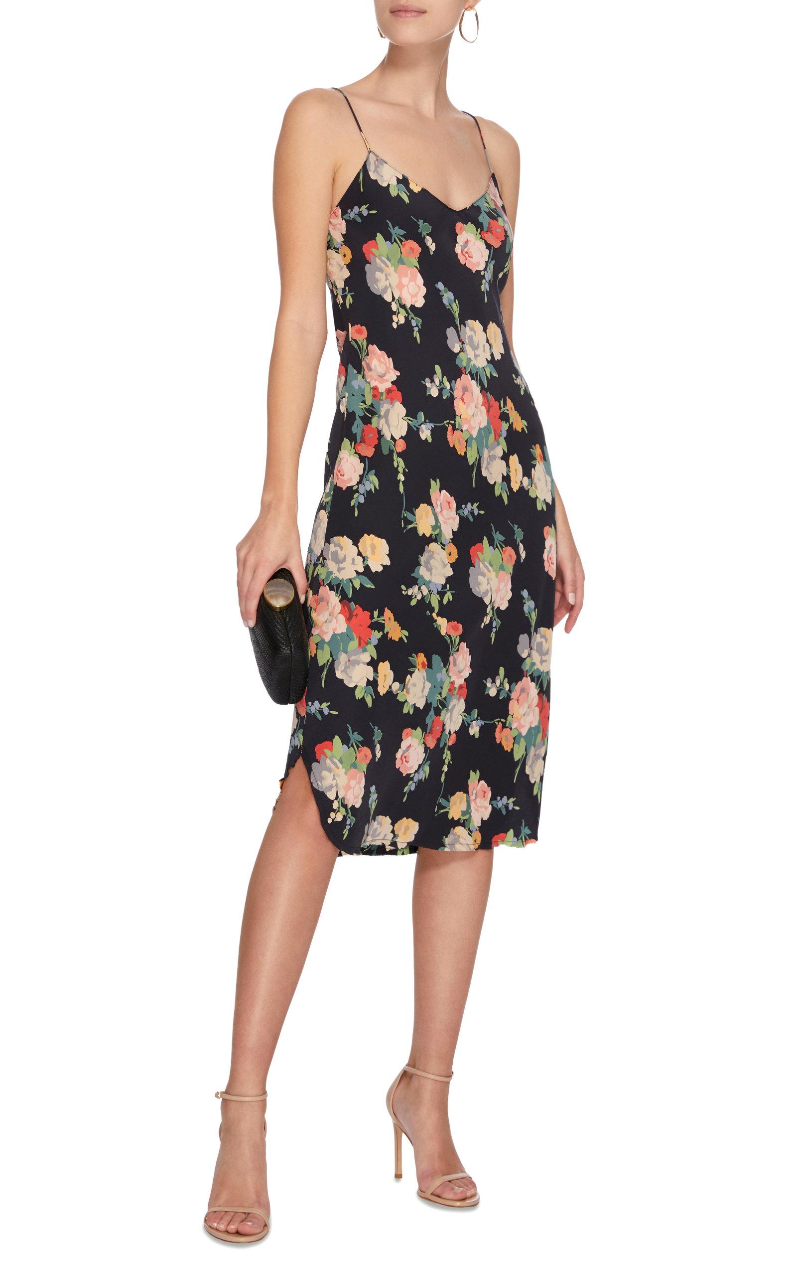 fb0a8f425f4a Cami Floral-Print Silk Slip Dress by NILI LOTAN | Moda Operandi
