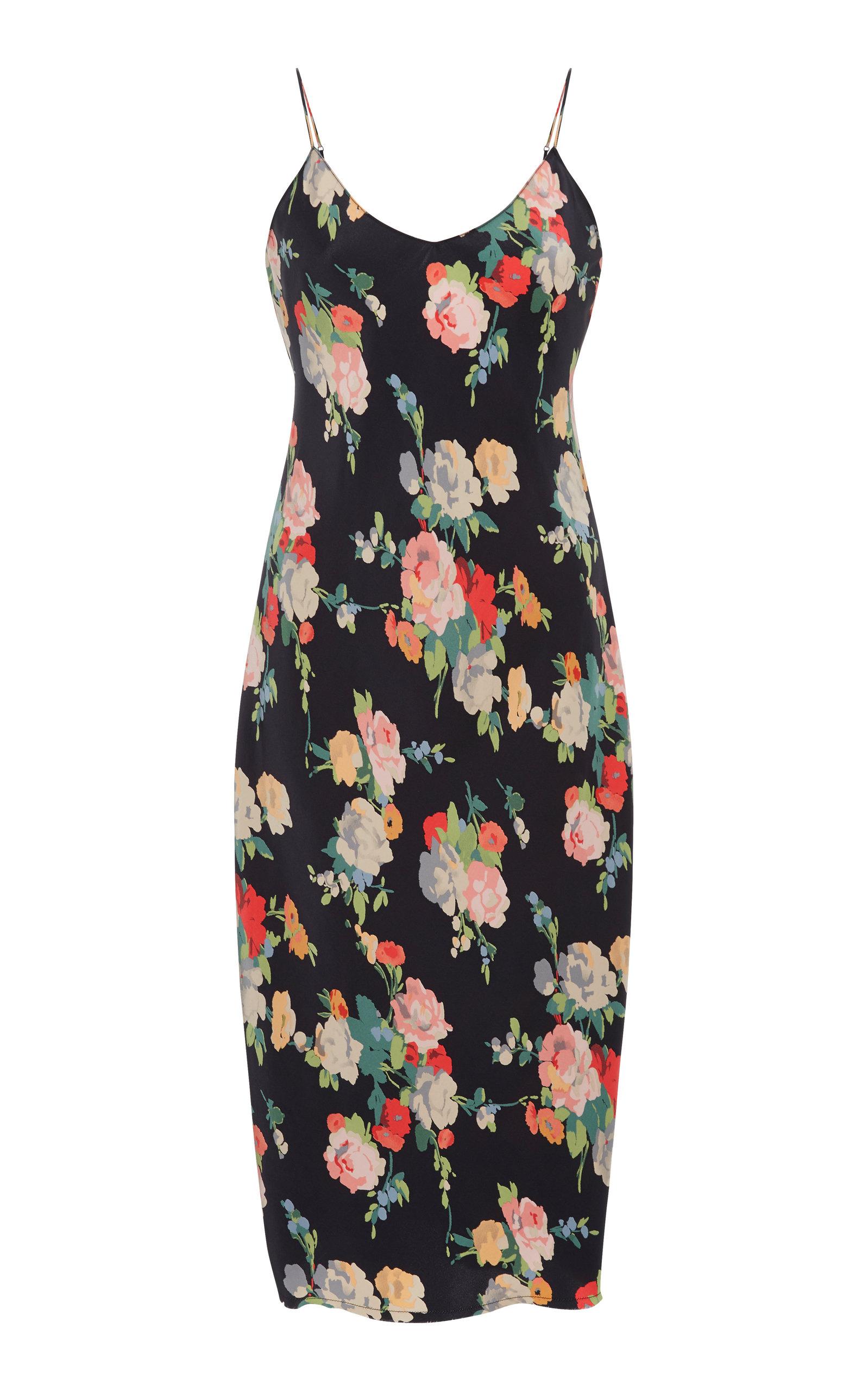 Cami Floral-Print Silk Slip Dress Nili Lotan ZBIzBNeAf
