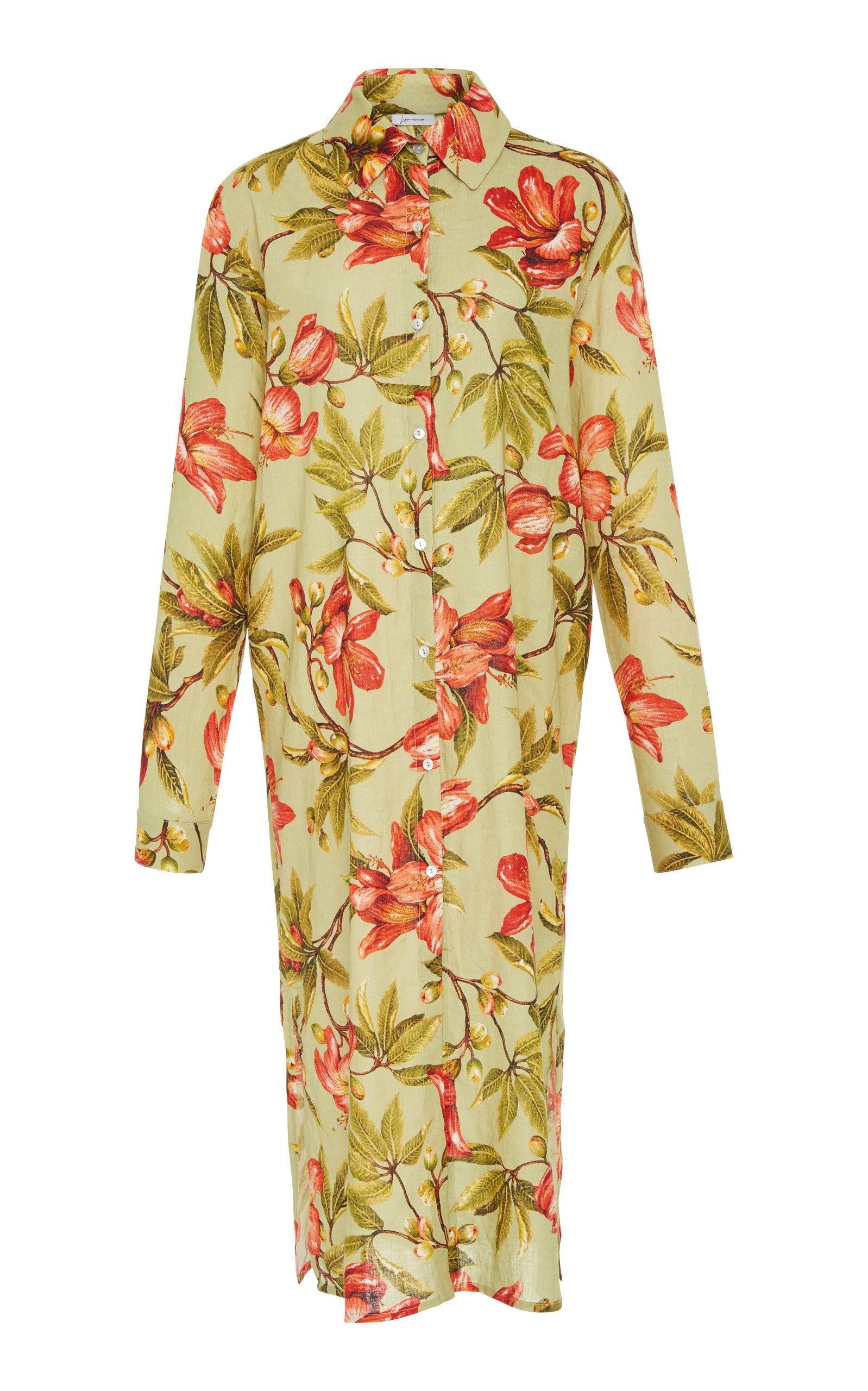 LENNY NIEMEYER Rustic Button-Down Shirt Dress in Floral