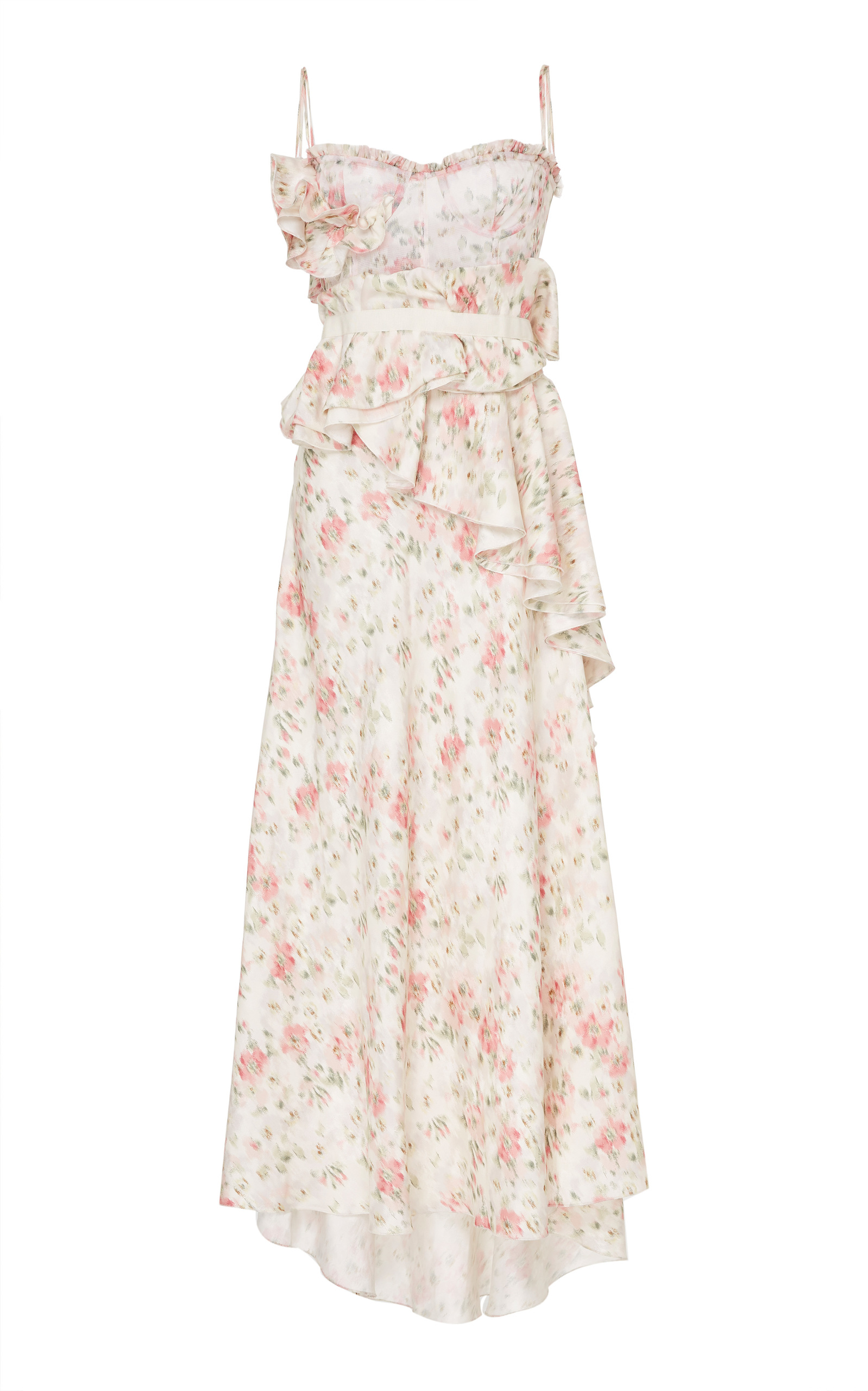 Daphne Floral-Print Silk-Charmeuse Dress Brock Collection 71zuxoJ
