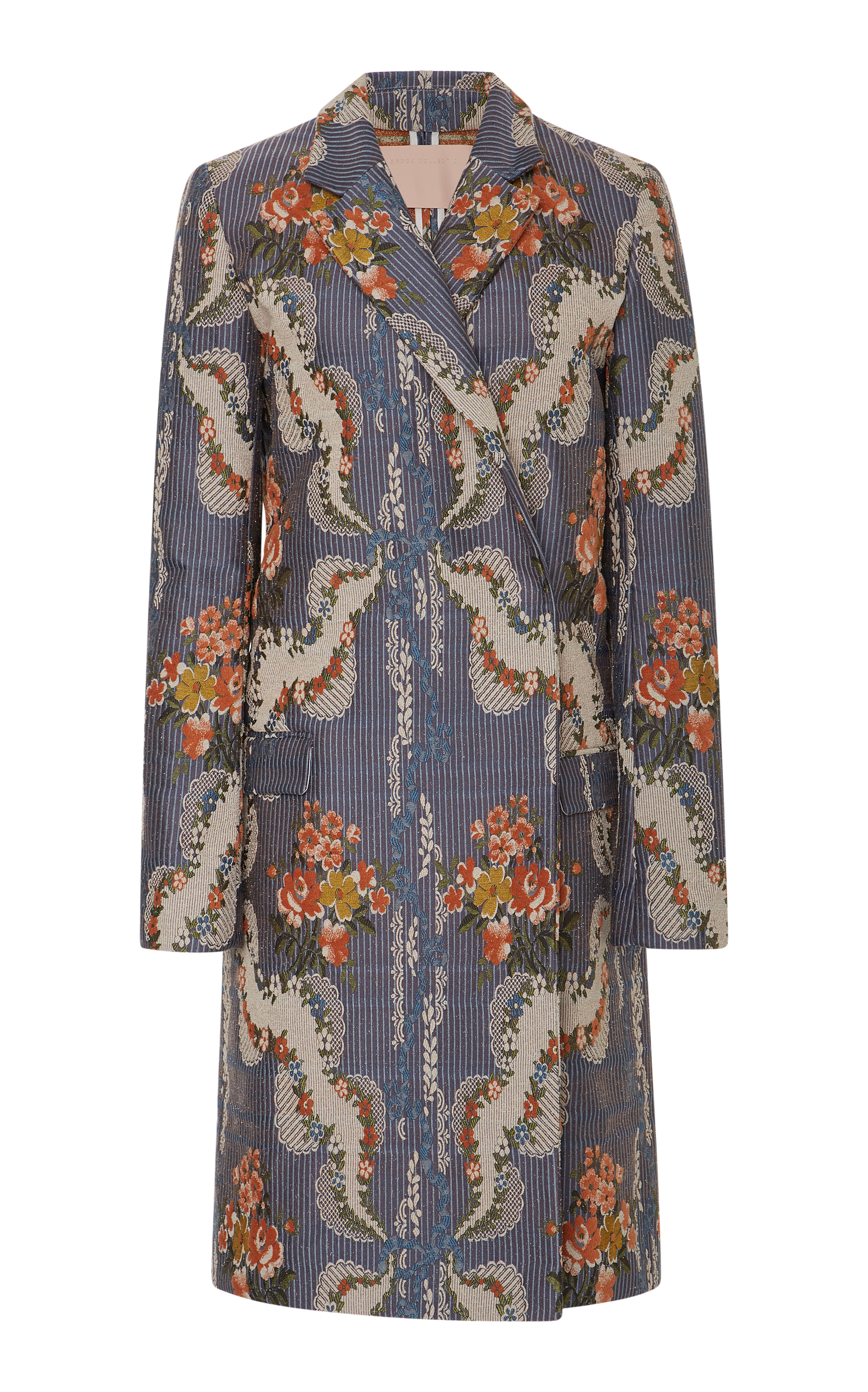 Brock Collection  CHANDLER FLORAL CORDED JACQUARD COAT