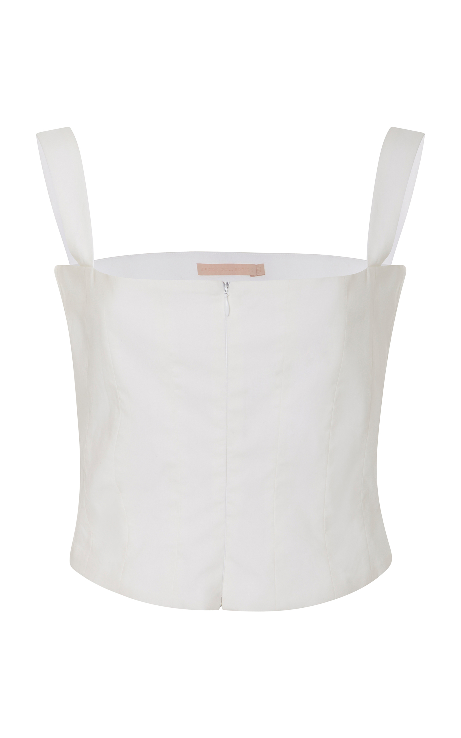 Brock Collection  TAYTEN COTTON AND SILK-BLEND CORSET TOP