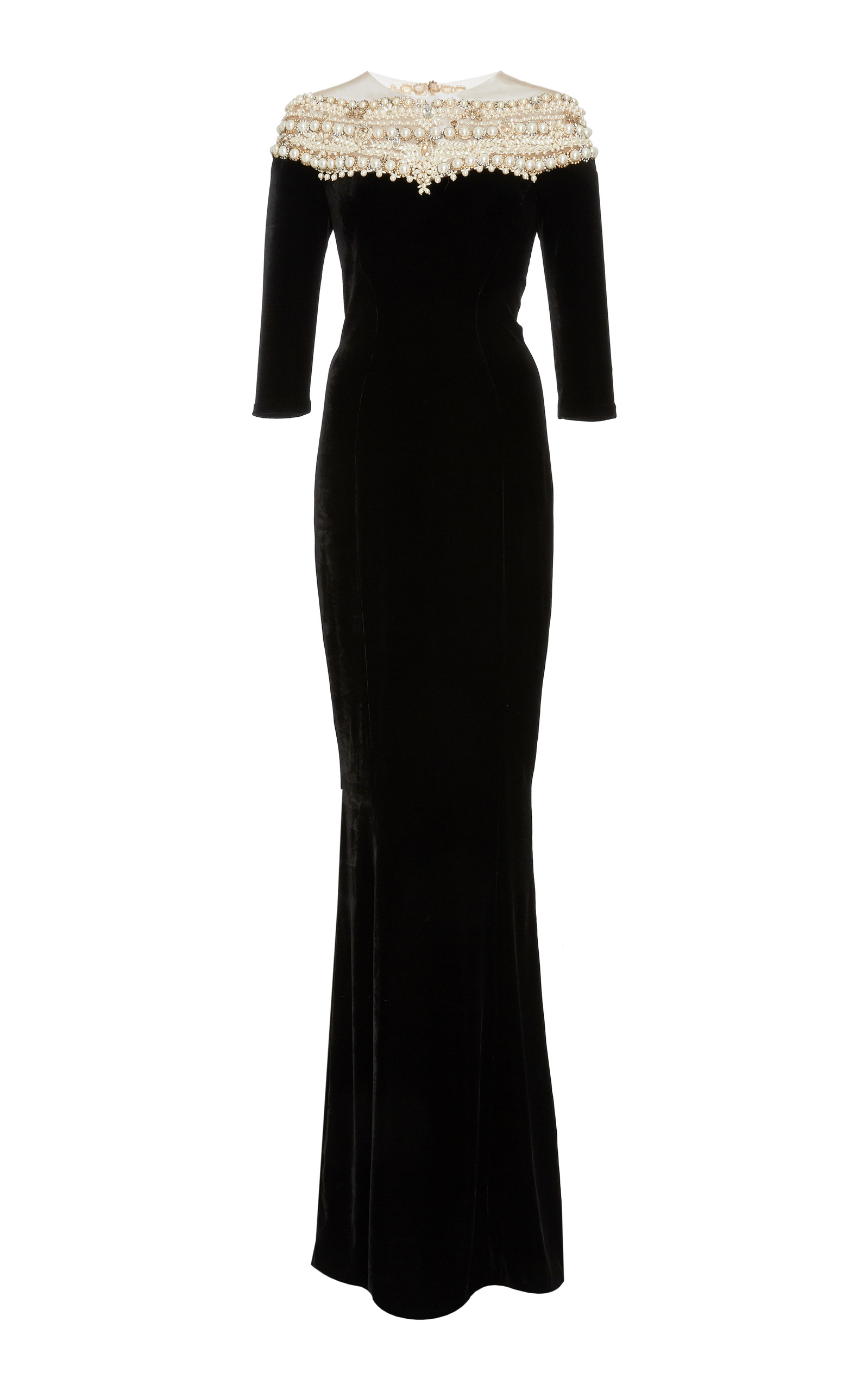 e2a293452 Velvet Pearl Gown by Marchesa