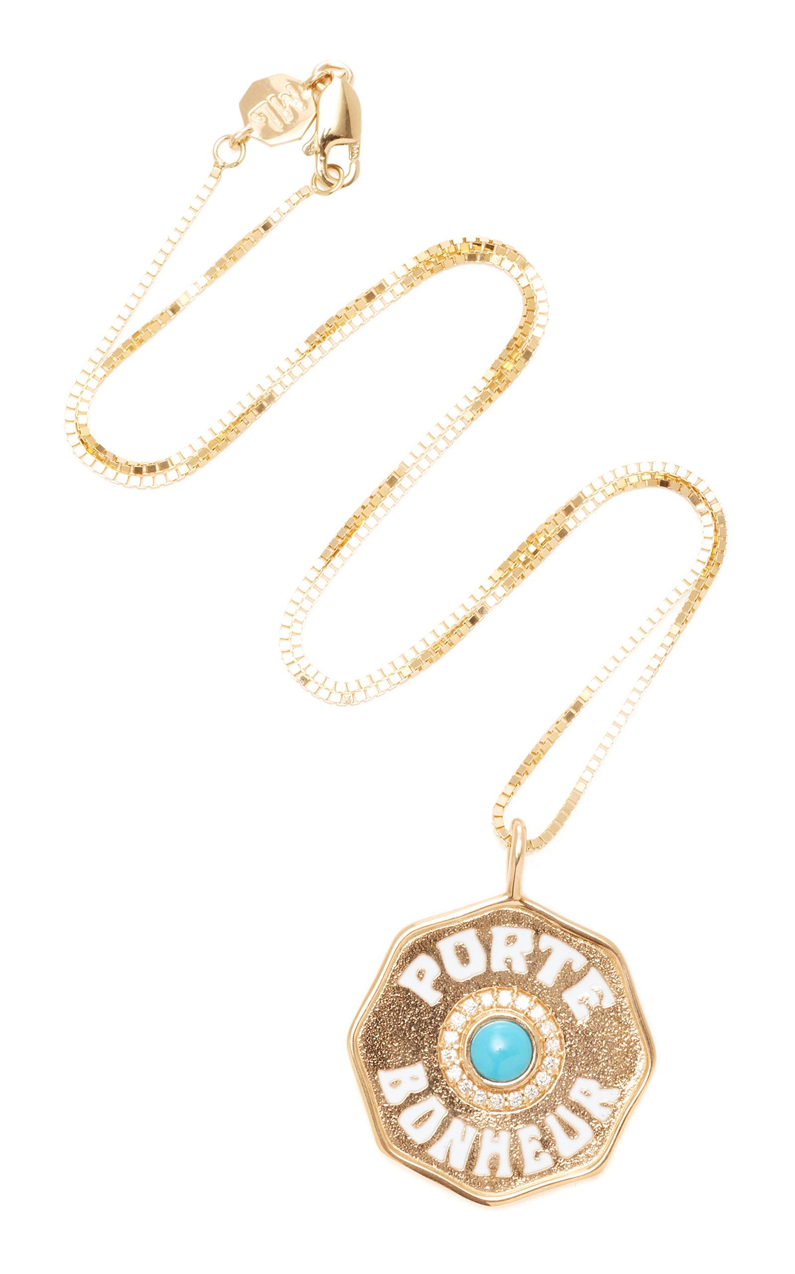 Marlo Laz Porte Boneheur 14K Gold Necklace 261KpAIWl