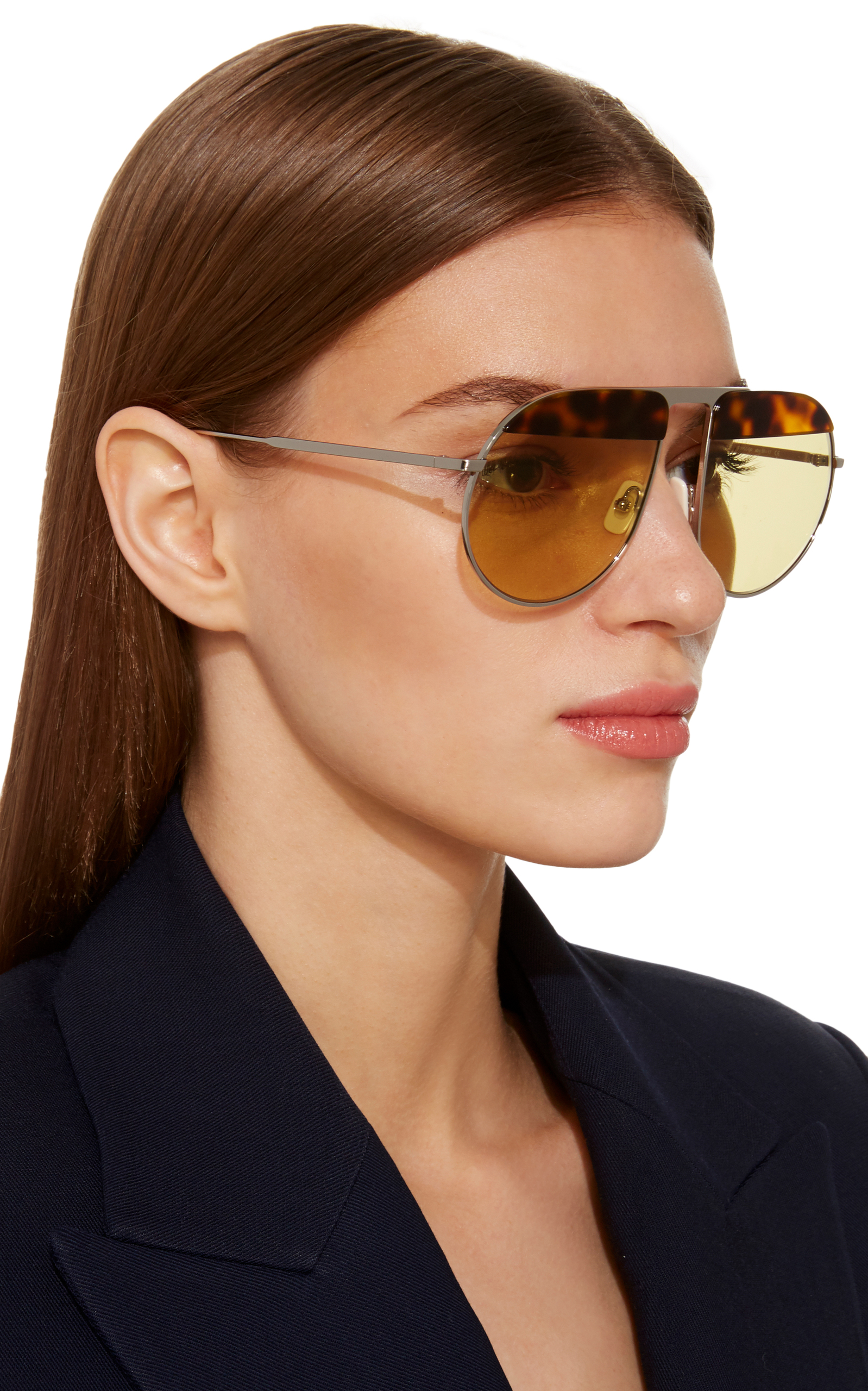 Pilot Metal and Tortoiseshell Acetate Sunglasses Jplus Fda1uu