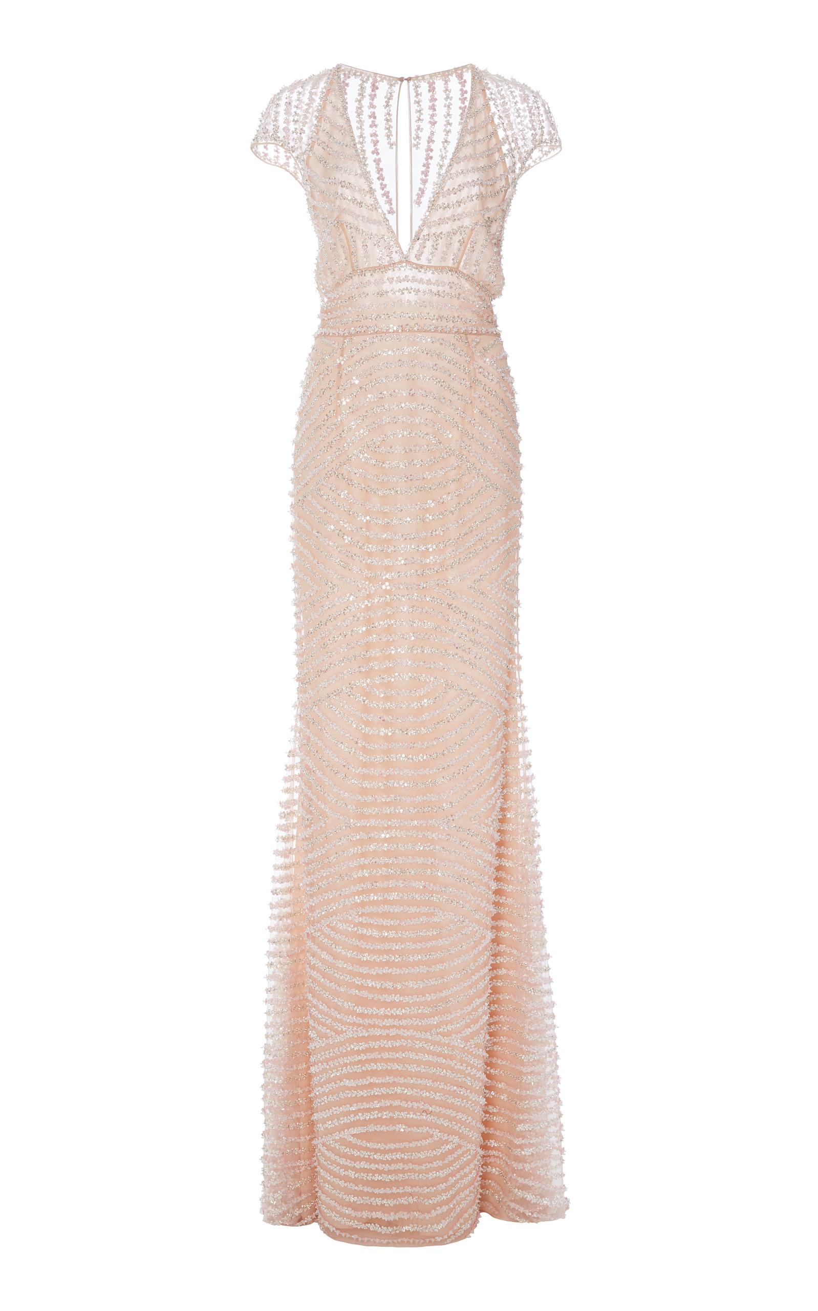 Short Sleeve Embellished Dress