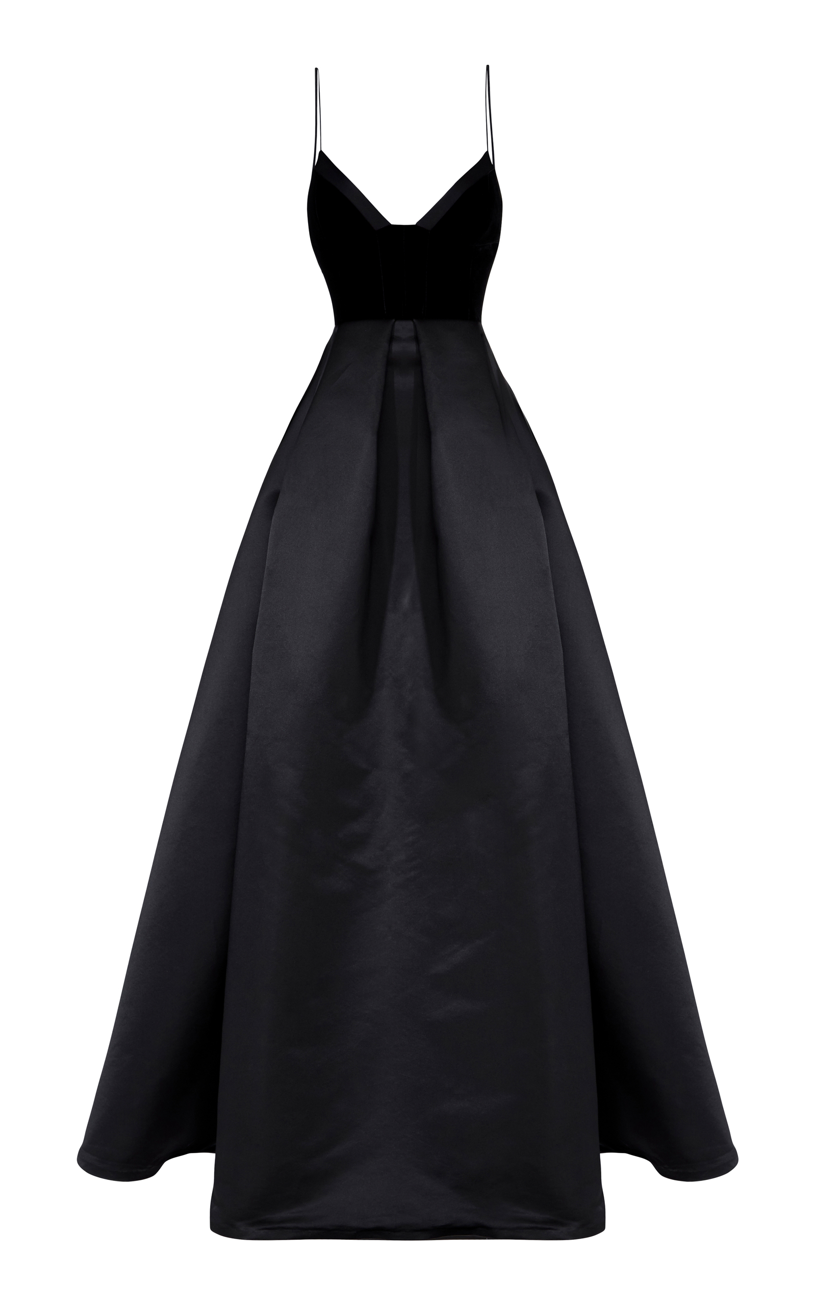 a33adfbd18 Alex Perry Raine Silk And Velvet Gown In Black