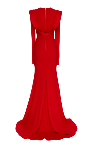 b7c9931268 Alex PerryAlex Satin Draped Gown